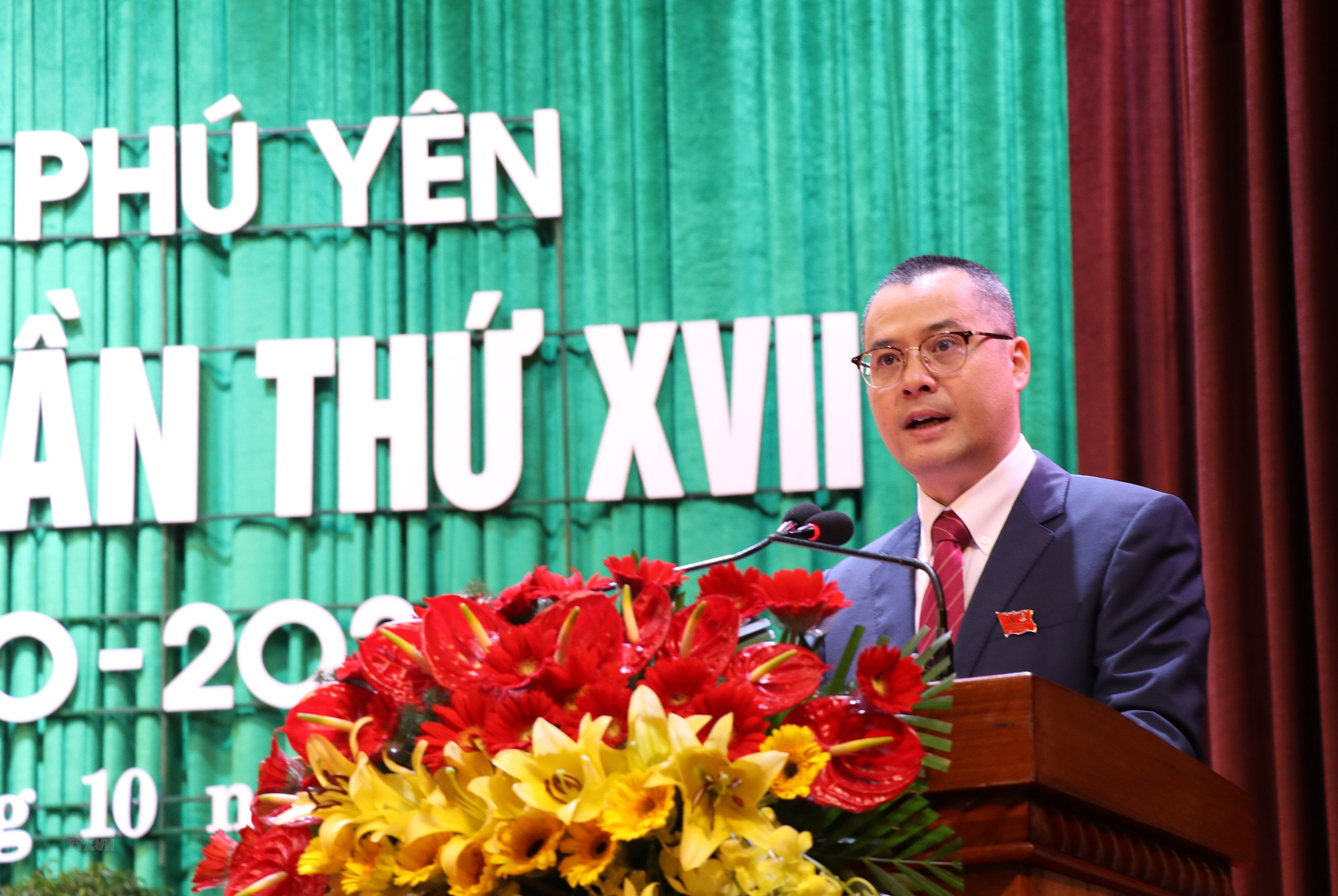 Hinh anh Dai hoi dai bieu Dang bo tinh Phu Yen lan thu XVII hinh anh 4