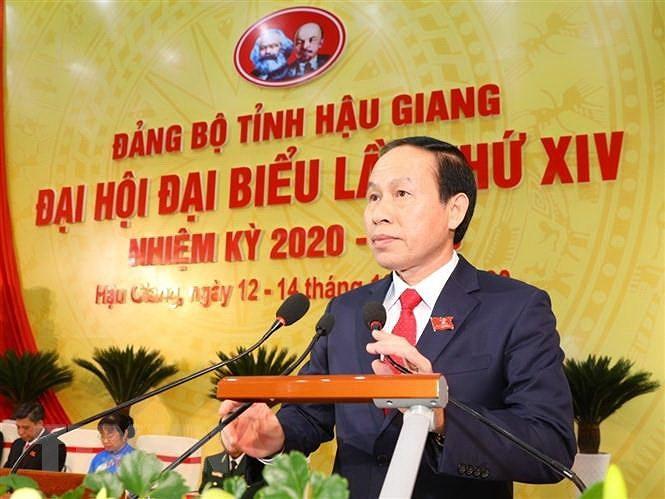 Ong Le Tien Chau tai dac cu chuc danh Bi thu Tinh uy Hau Giang hinh anh 1