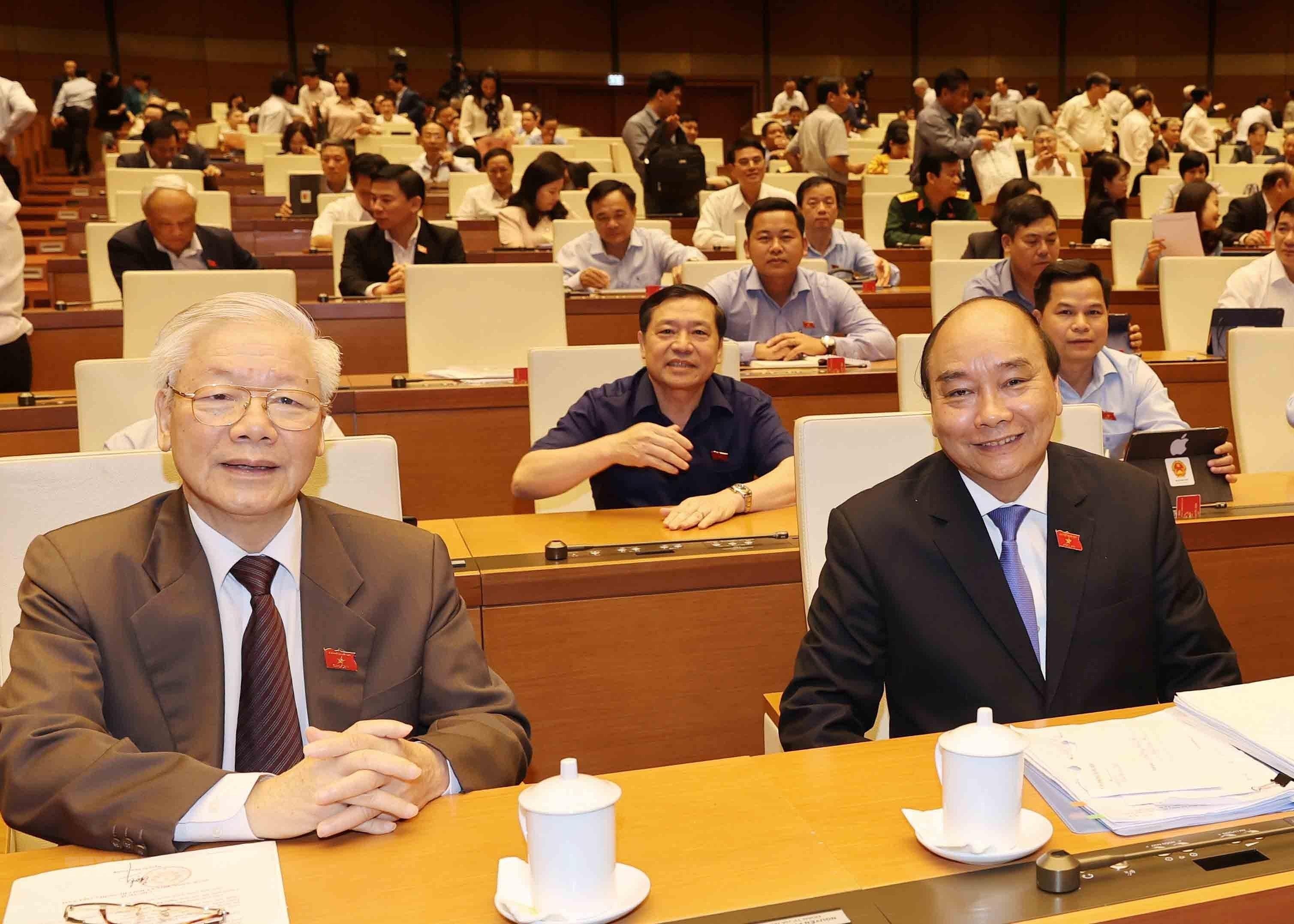 Chu tich nuoc Nguyen Phu Trong trinh Quoc hoi mien nhiem Thu tuong hinh anh 5