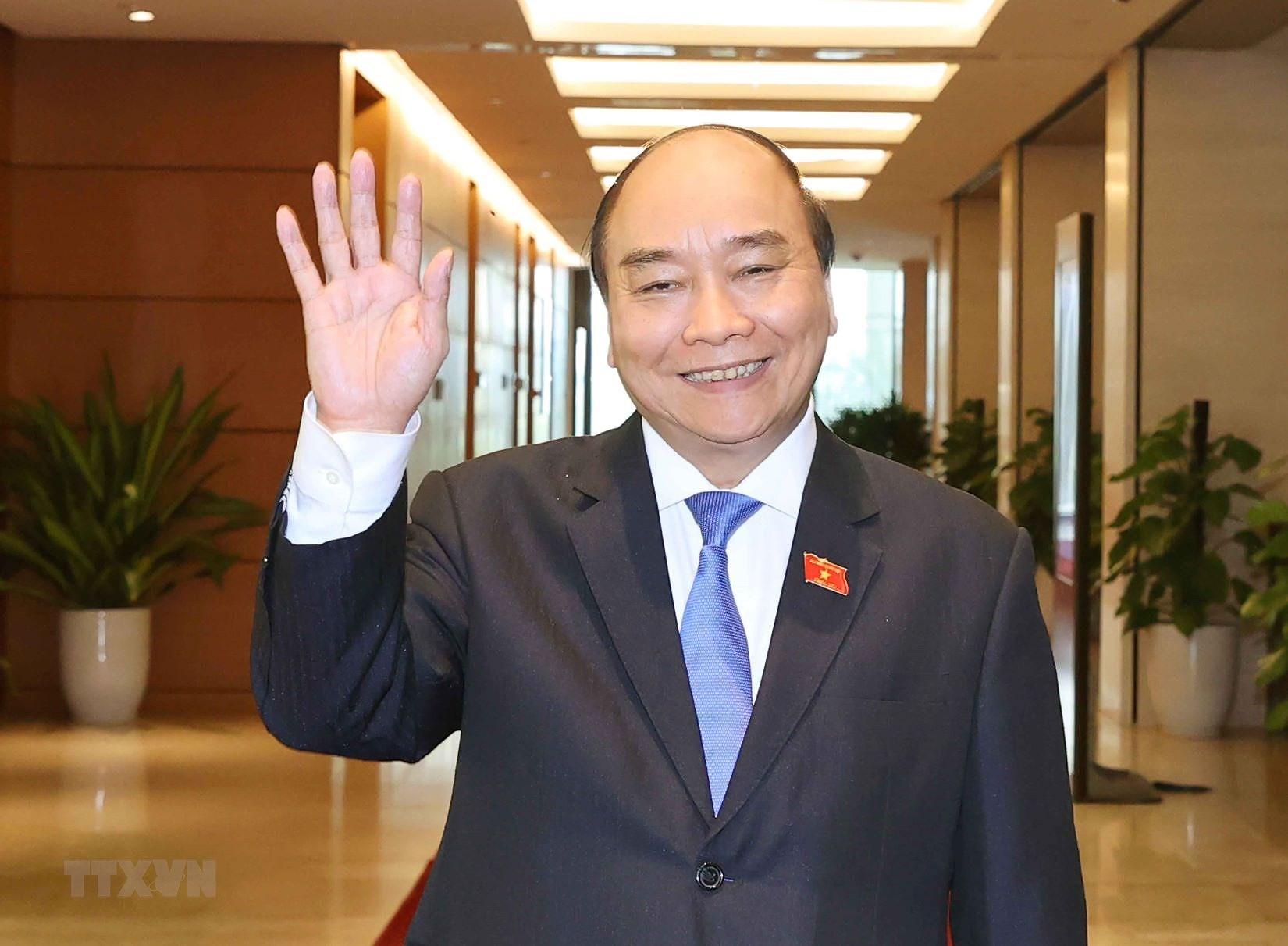 Chu tich nuoc Nguyen Phu Trong trinh Quoc hoi mien nhiem Thu tuong hinh anh 8