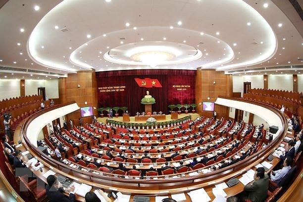 Hinh anh khai mac Hoi nghi lan thu ba Ban Chap hanh TW Dang khoa XIII hinh anh 11