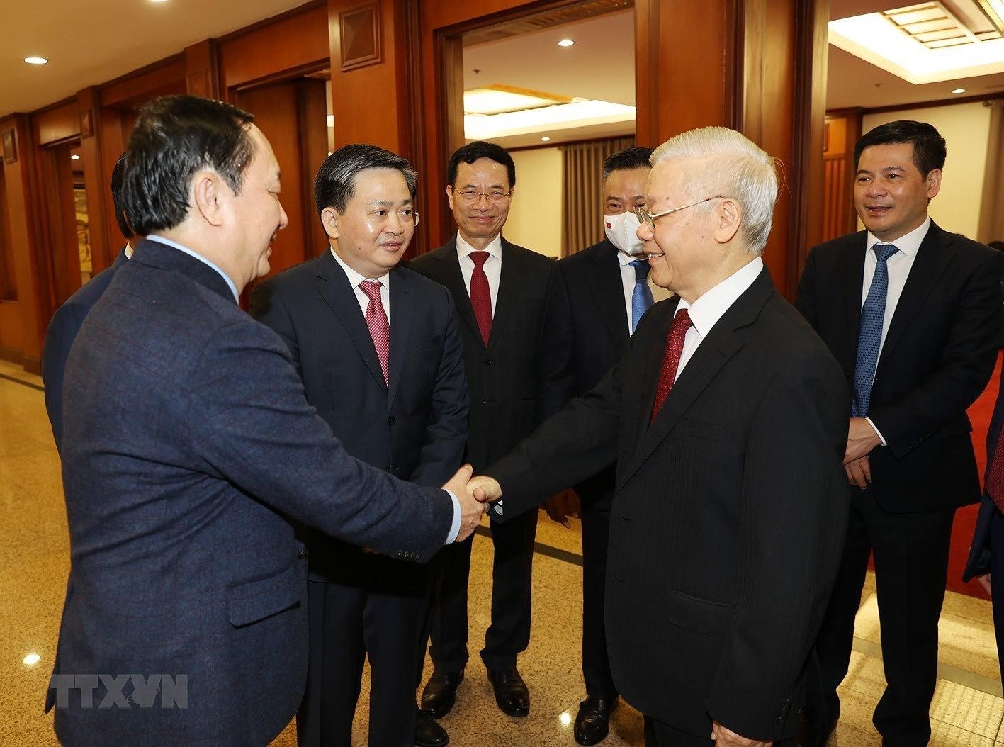 Khai mac Hoi nghi lan thu 3 Ban Chap hanh Trung uong Dang khoa XIII hinh anh 1