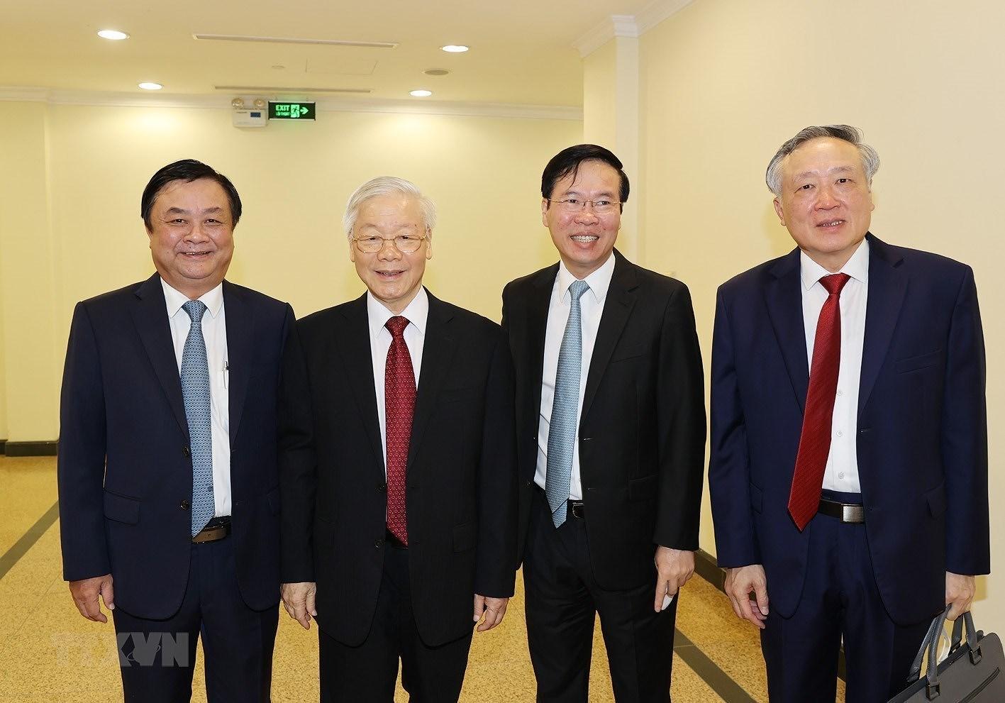 Hinh anh khai mac Hoi nghi lan thu ba Ban Chap hanh TW Dang khoa XIII hinh anh 3
