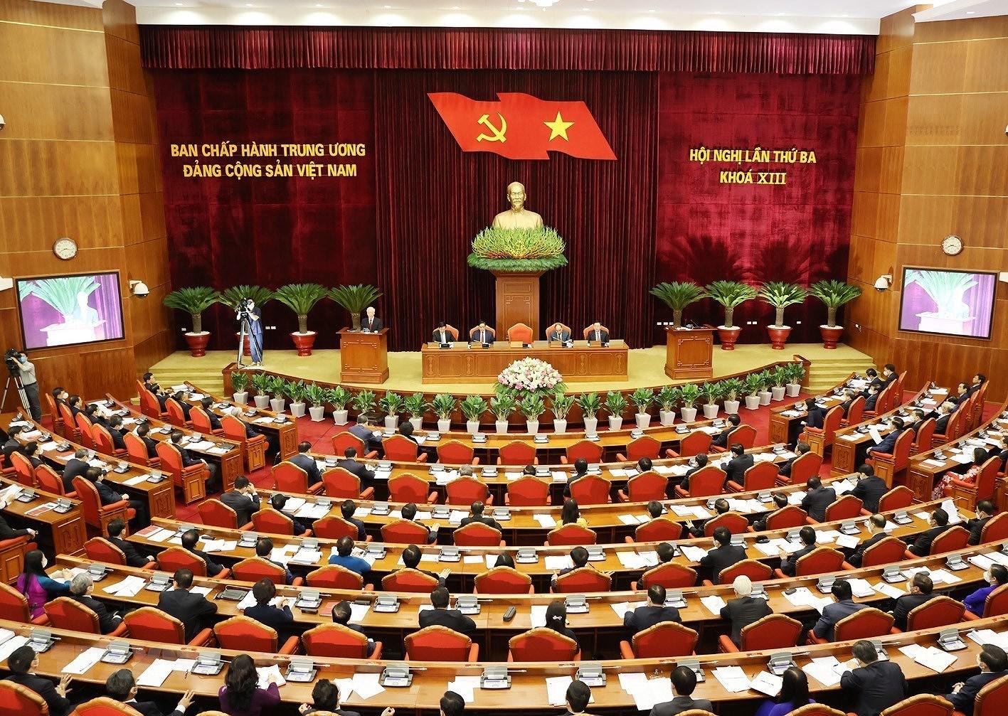 Hinh anh khai mac Hoi nghi lan thu ba Ban Chap hanh TW Dang khoa XIII hinh anh 4