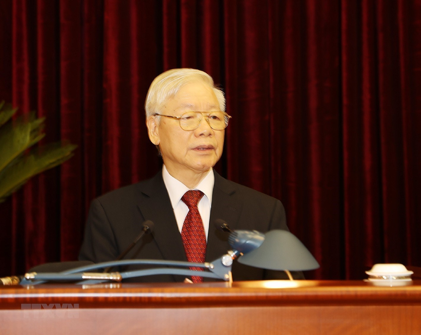 Hinh anh khai mac Hoi nghi lan thu ba Ban Chap hanh TW Dang khoa XIII hinh anh 6