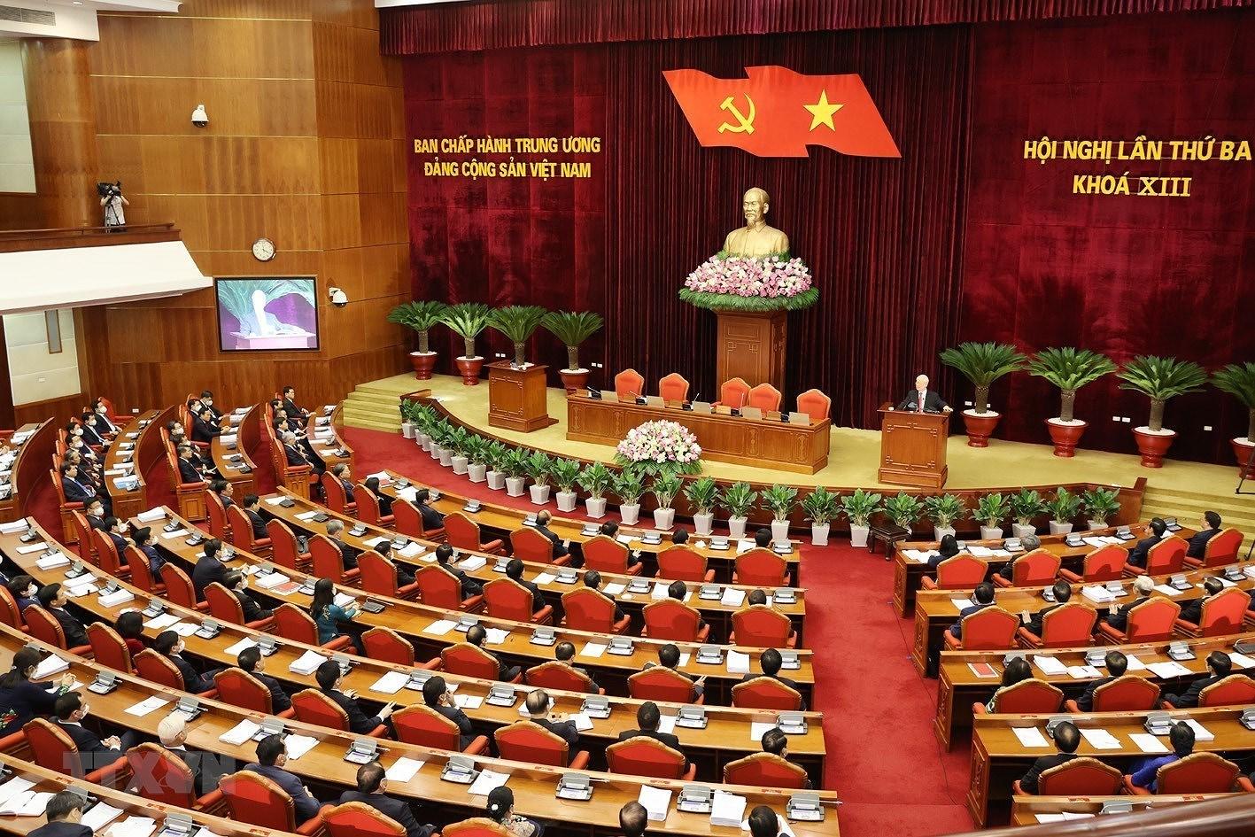 Be mac Hoi nghi lan thu ba Ban Chap hanh Trung uong Dang khoa XIII hinh anh 6