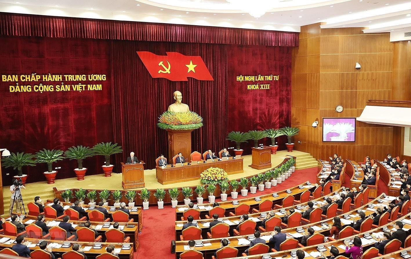 [Photo] Hoi nghi lan thu tu Ban Chap hanh Trung uong Dang khoa XIII hinh anh 2