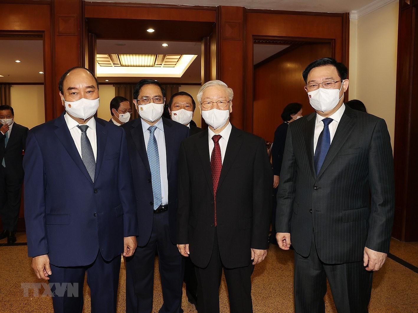 [Photo] Hoi nghi lan thu tu Ban Chap hanh Trung uong Dang khoa XIII hinh anh 5