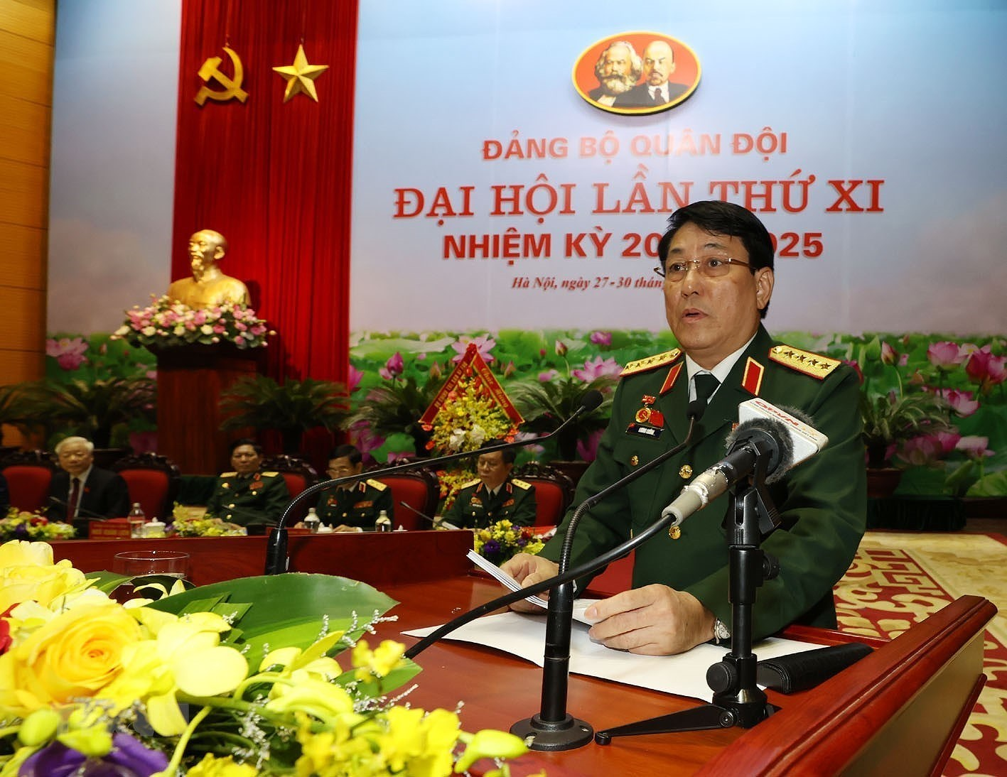 Hinh anh khai mac Dai hoi dai bieu Dang bo Quan doi lan thu XI hinh anh 2