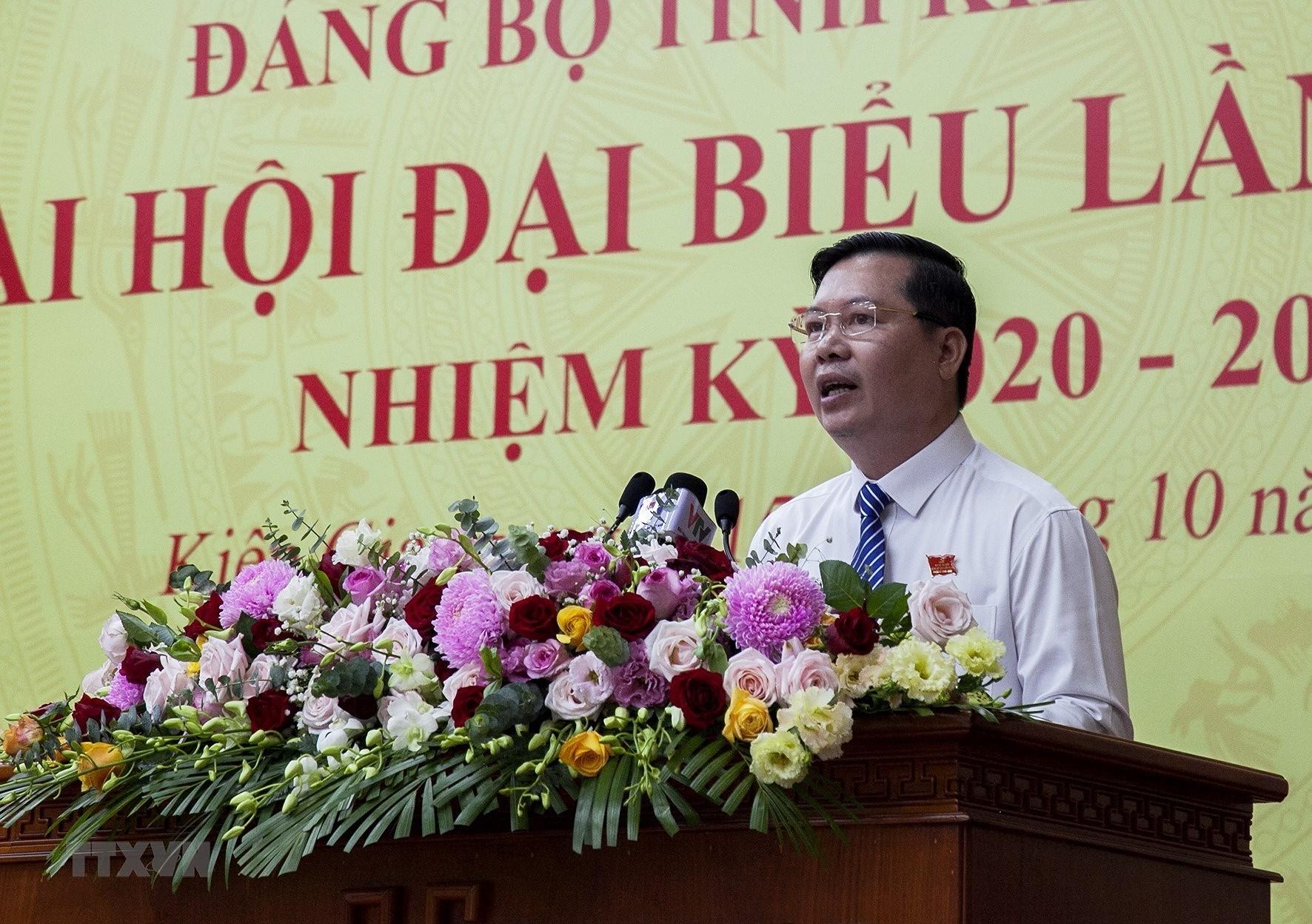Khai mac Dai hoi Dang bo tinh Kien Giang lan XI nhiem ky 2020-2025 hinh anh 7