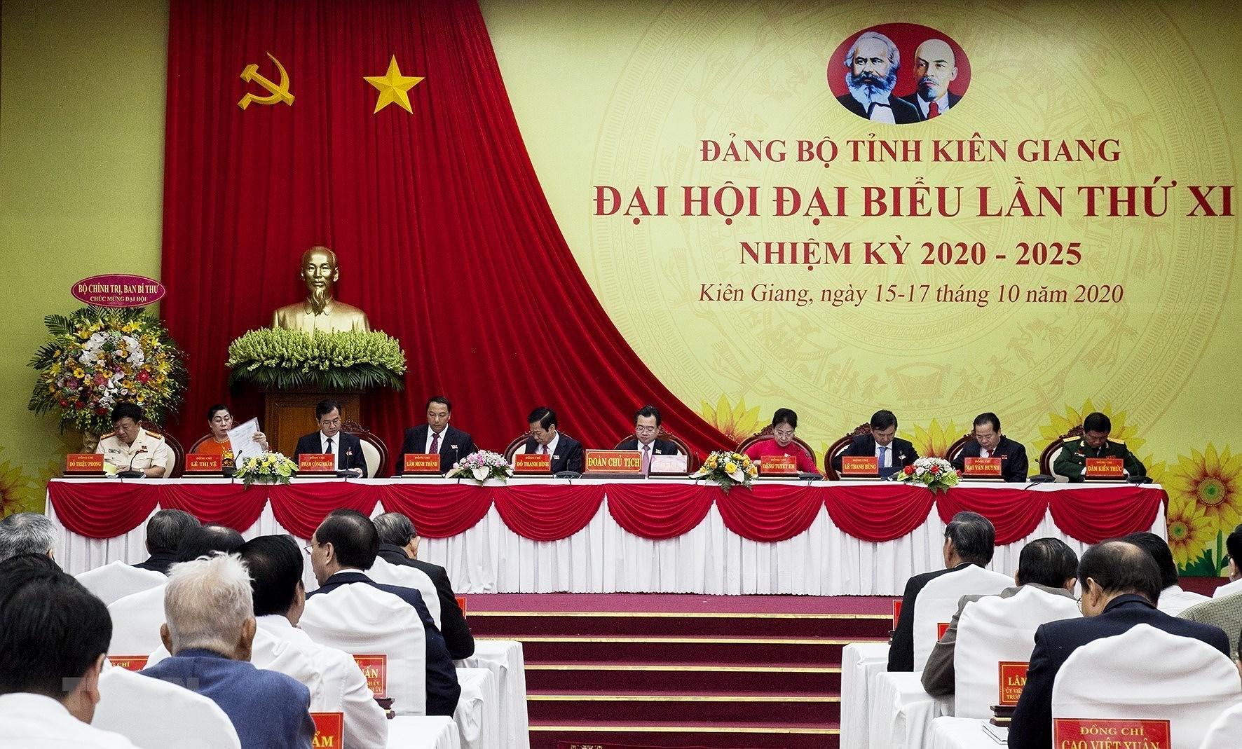 Khai mac Dai hoi Dang bo tinh Kien Giang lan XI nhiem ky 2020-2025 hinh anh 2