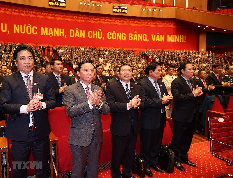 [Photo] Hinh anh phien hop tru bi Dai hoi XIII cua Dang hinh anh 46