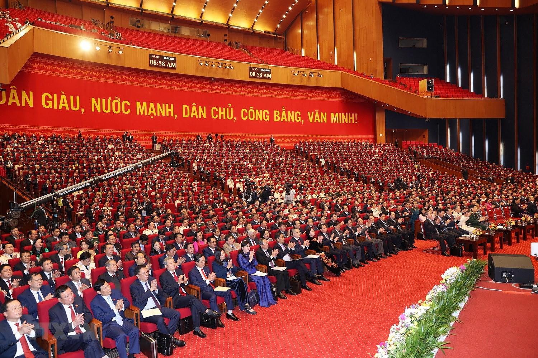 [Photo] Hinh anh phien hop tru bi Dai hoi XIII cua Dang hinh anh 43