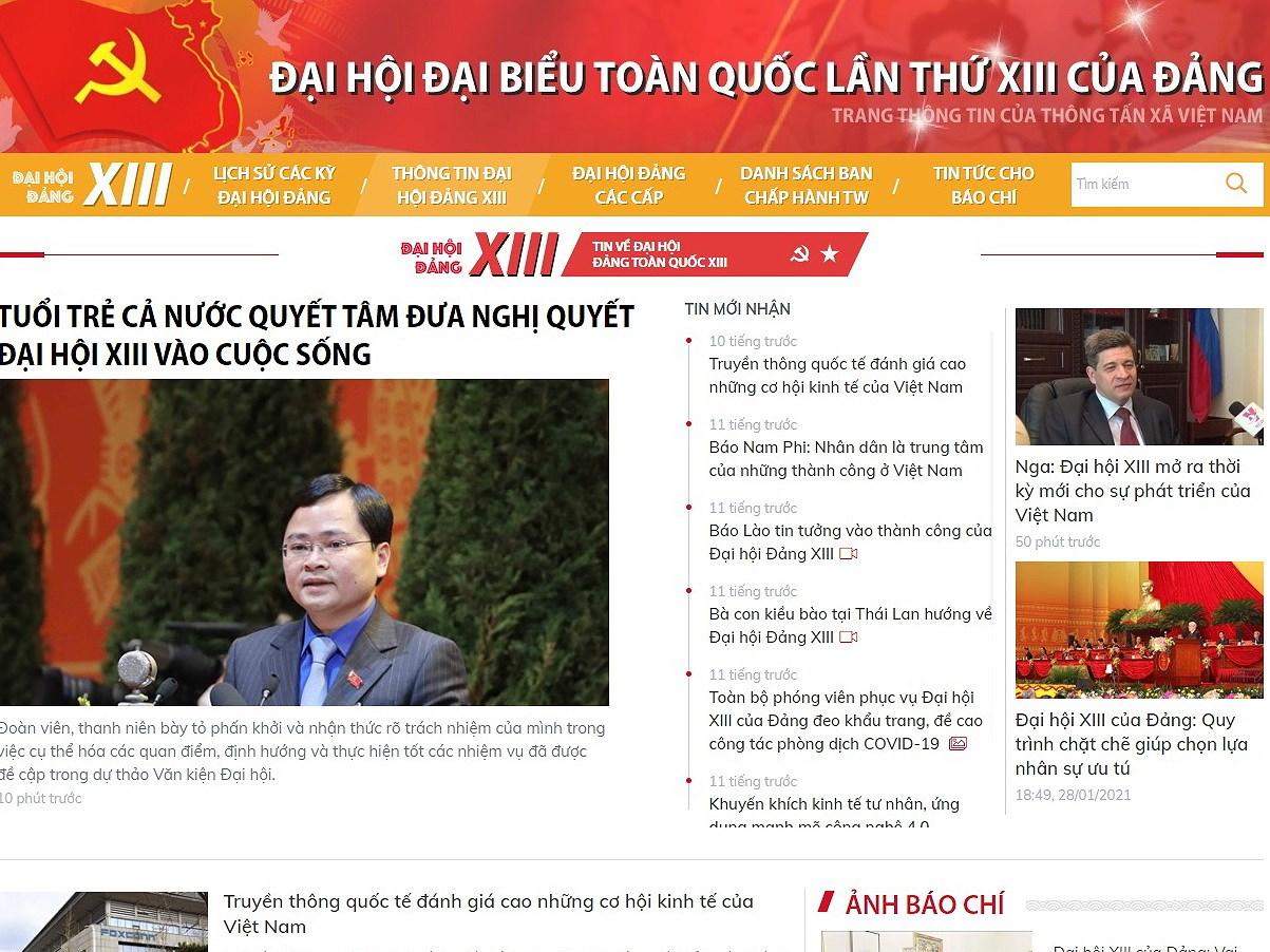 Phong vien nuoc ngoai chia se viec dua tin truc tuyen ve Dai hoi Dang hinh anh 1