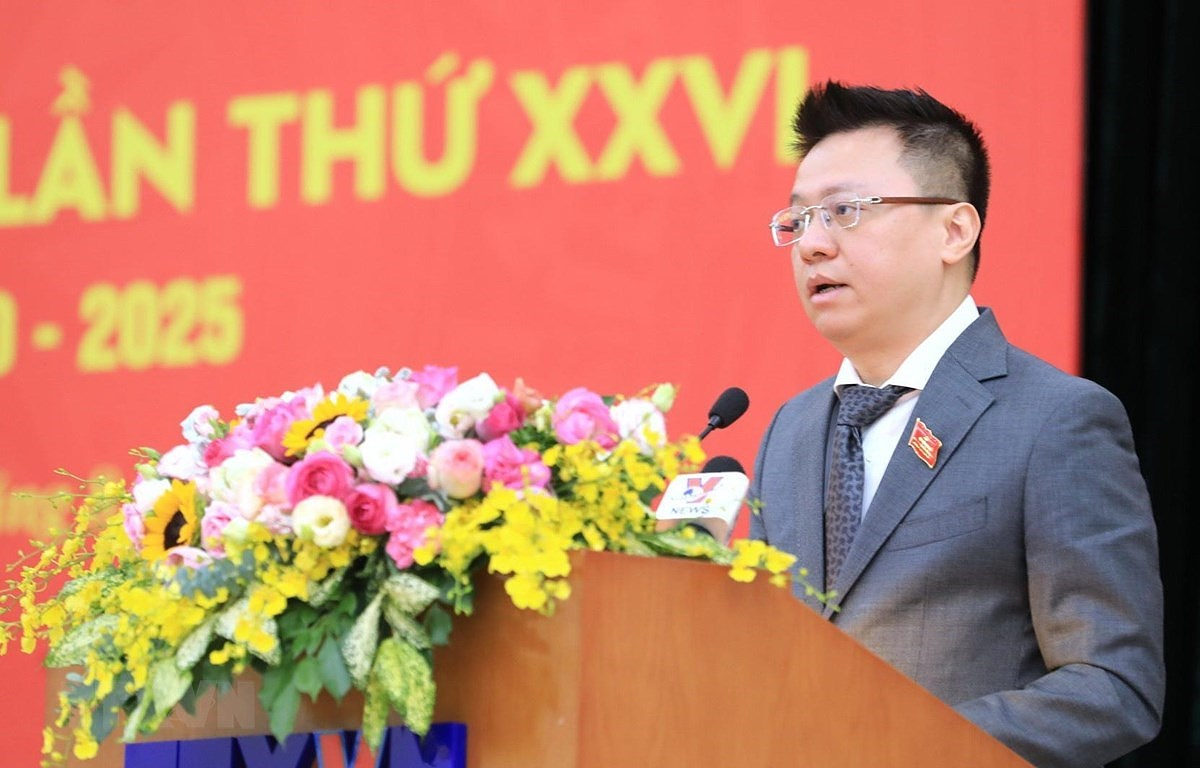 Bi thu Dang uy TTXVN Le Quoc Minh duoc bau vao BCH TW Dang khoa XIII hinh anh 1