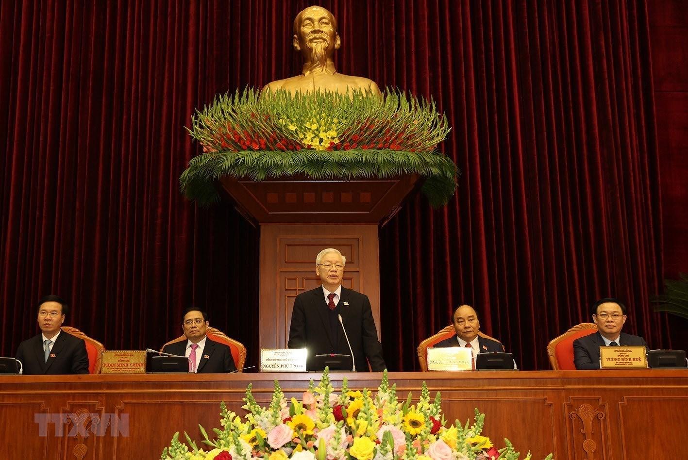 Hinh anh Hoi nghi lan thu nhat Ban Chap hanh Trung uong Dang khoa XIII hinh anh 3