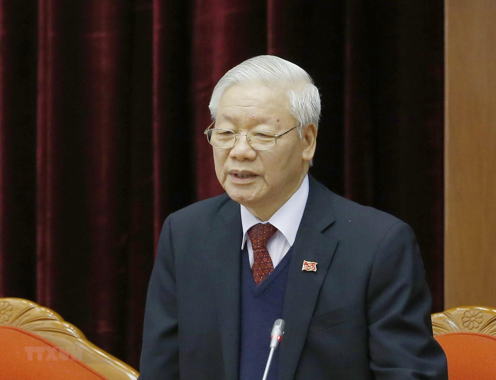 [Photo] Dong chi Nguyen Phu Trong duoc bau lam Tong Bi thu hinh anh 3