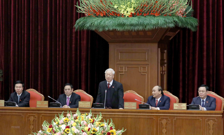 [Photo] Dong chi Nguyen Phu Trong duoc bau lam Tong Bi thu hinh anh 5