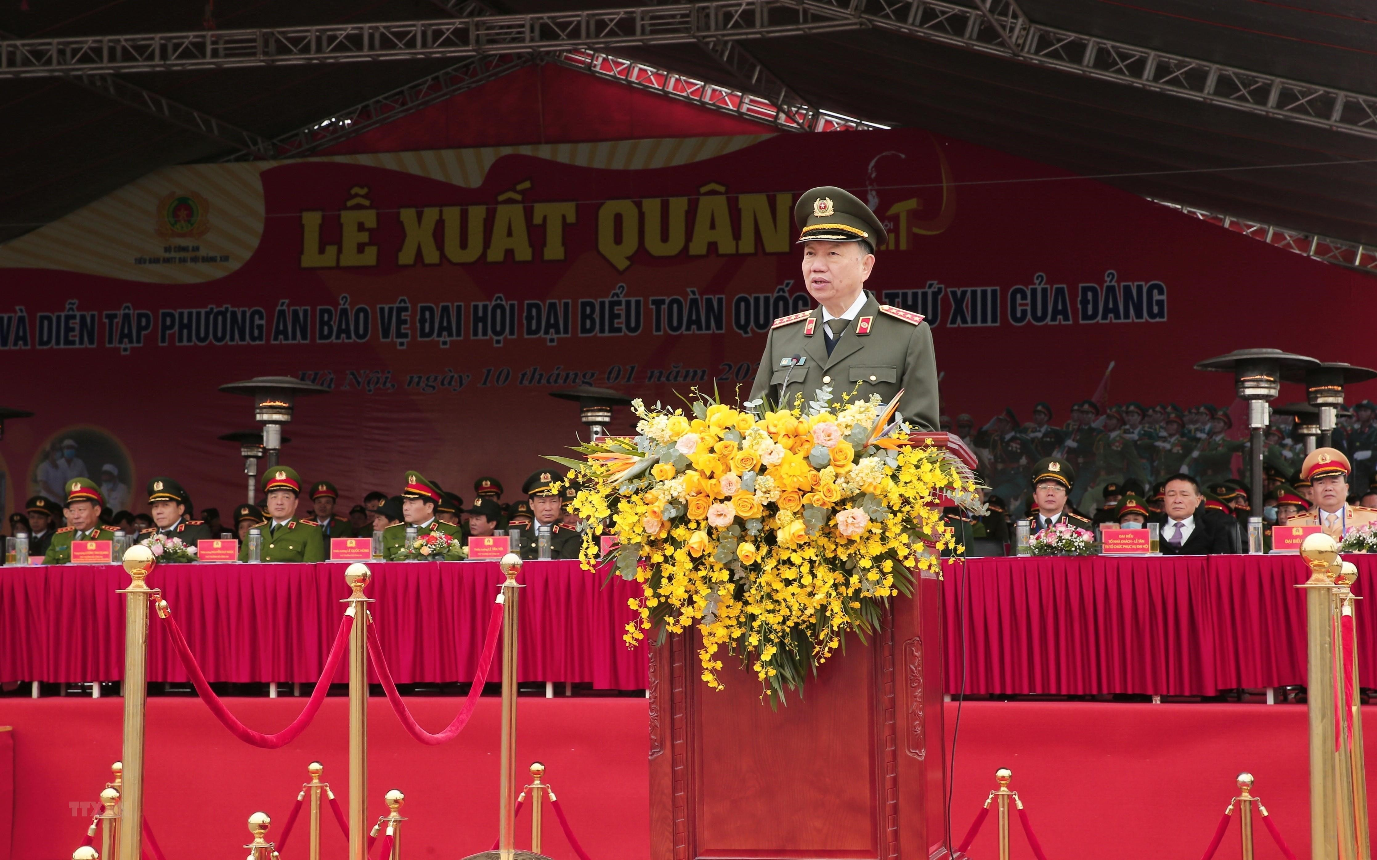 Le xuat quan, dien tap phuong an bao ve Dai hoi lan thu XIII cua Dang hinh anh 2