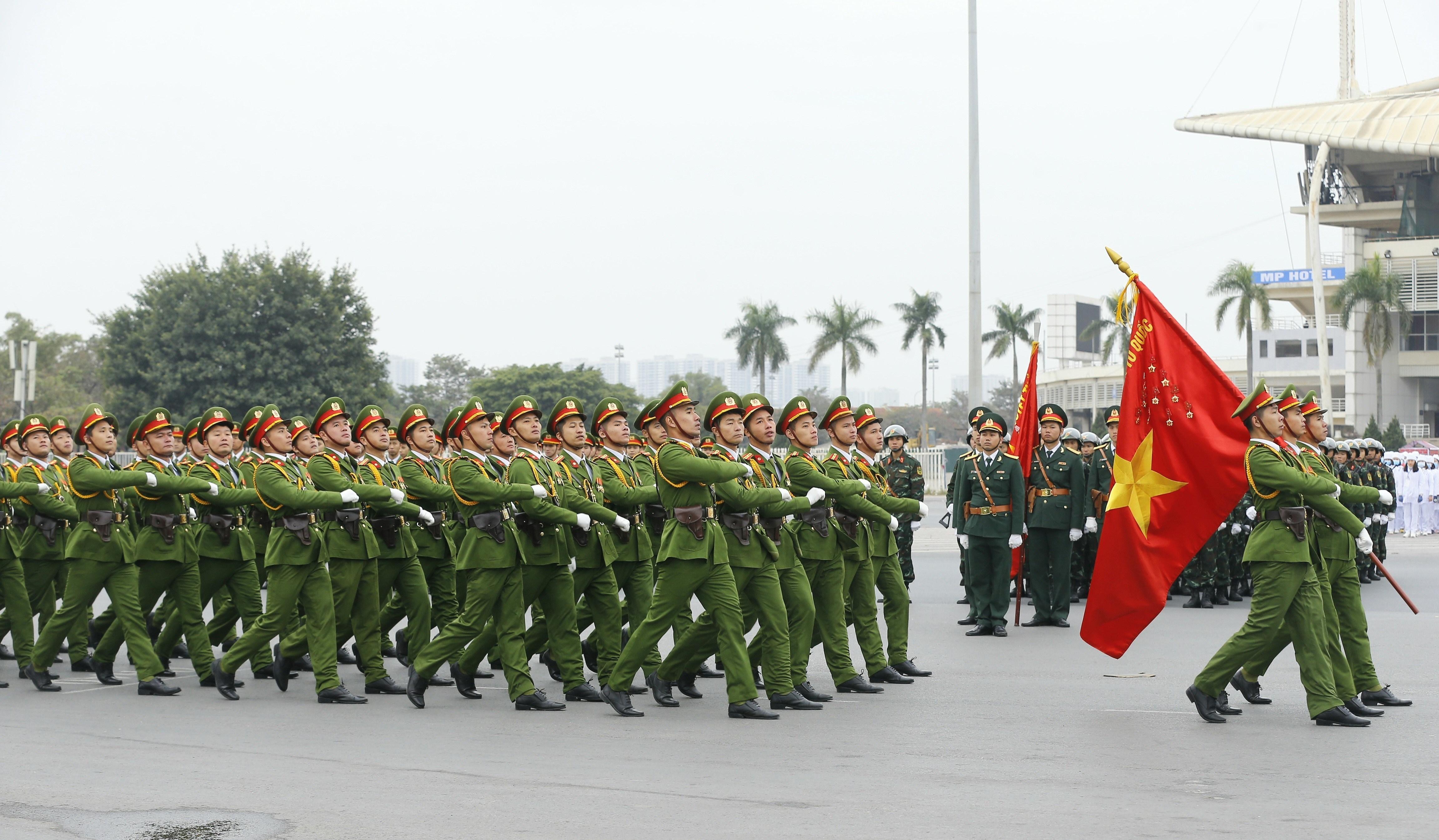 Le xuat quan, dien tap phuong an bao ve Dai hoi lan thu XIII cua Dang hinh anh 4