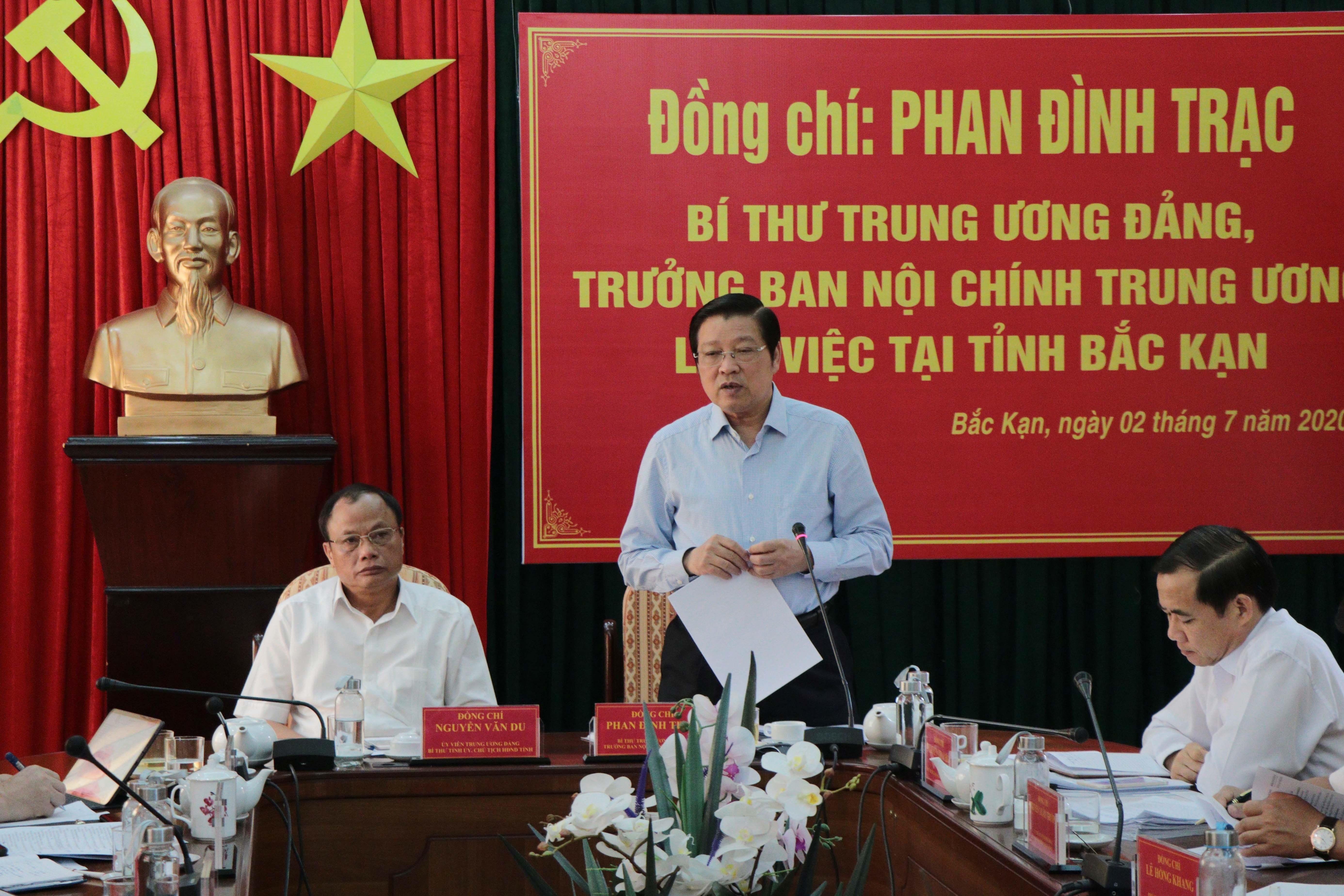 Truong ban Noi chinh TW lam viec voi Bac Kan ve Dai hoi Dang cac cap hinh anh 1