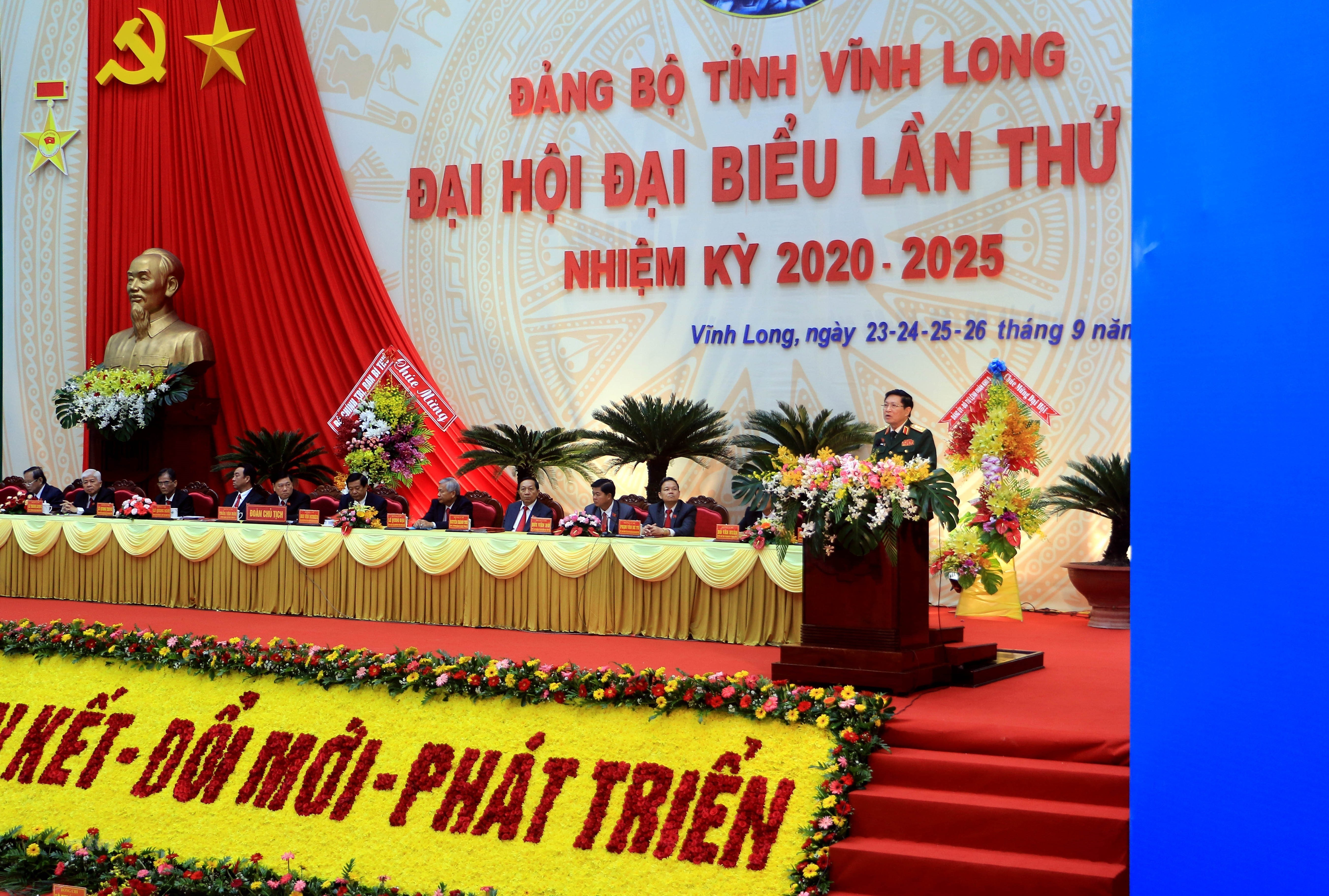 [Photo] Khai mac Dai hoi Dang bo tinh Vinh Long nhiem ky 2020-2025 hinh anh 2