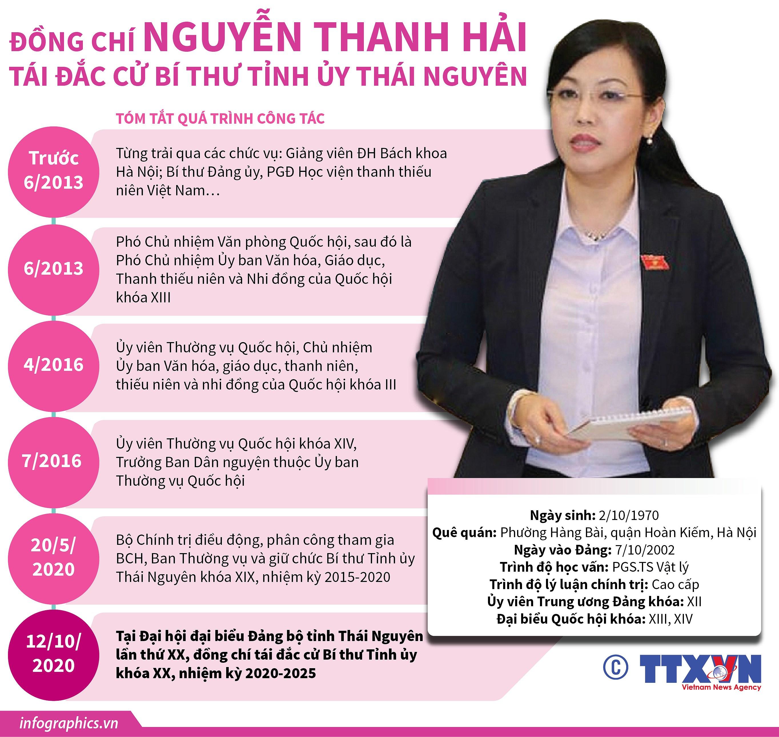 [Infographics] Ba Nguyen Thanh Hai tai cu Bi thu Tinh uy Thai Nguyen hinh anh 1