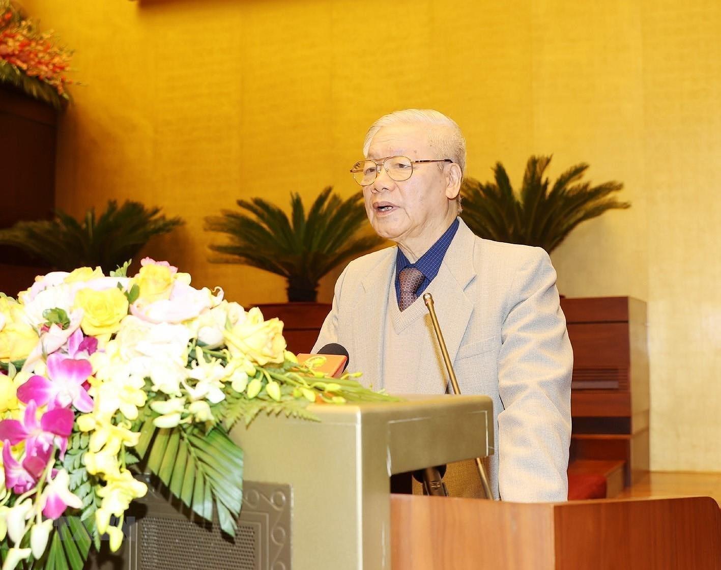 Tong Bi thu, Chu tich nuoc chi dao Hoi nghi trien khai cong tac bau cu hinh anh 2
