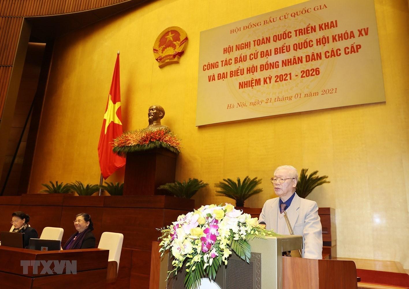 Tong Bi thu, Chu tich nuoc chi dao Hoi nghi trien khai cong tac bau cu hinh anh 5