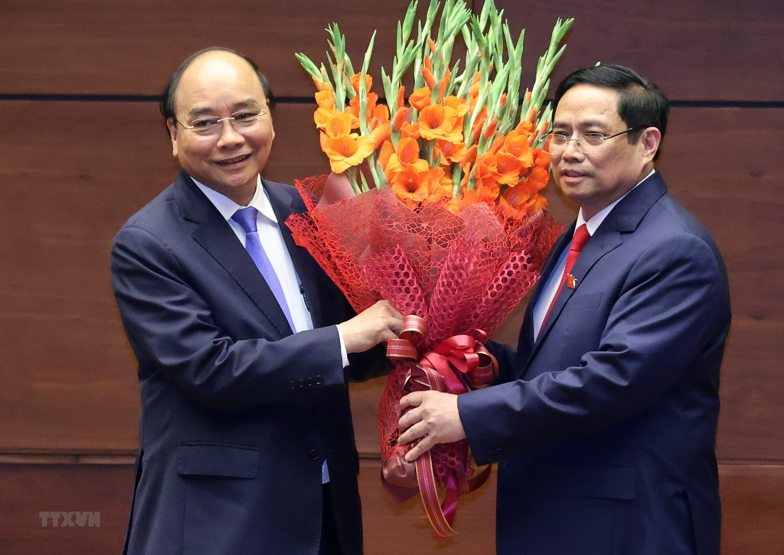 [Photo] Ong Pham Minh Chinh tuyen the nham chuc Thu tuong Chinh phu hinh anh 11