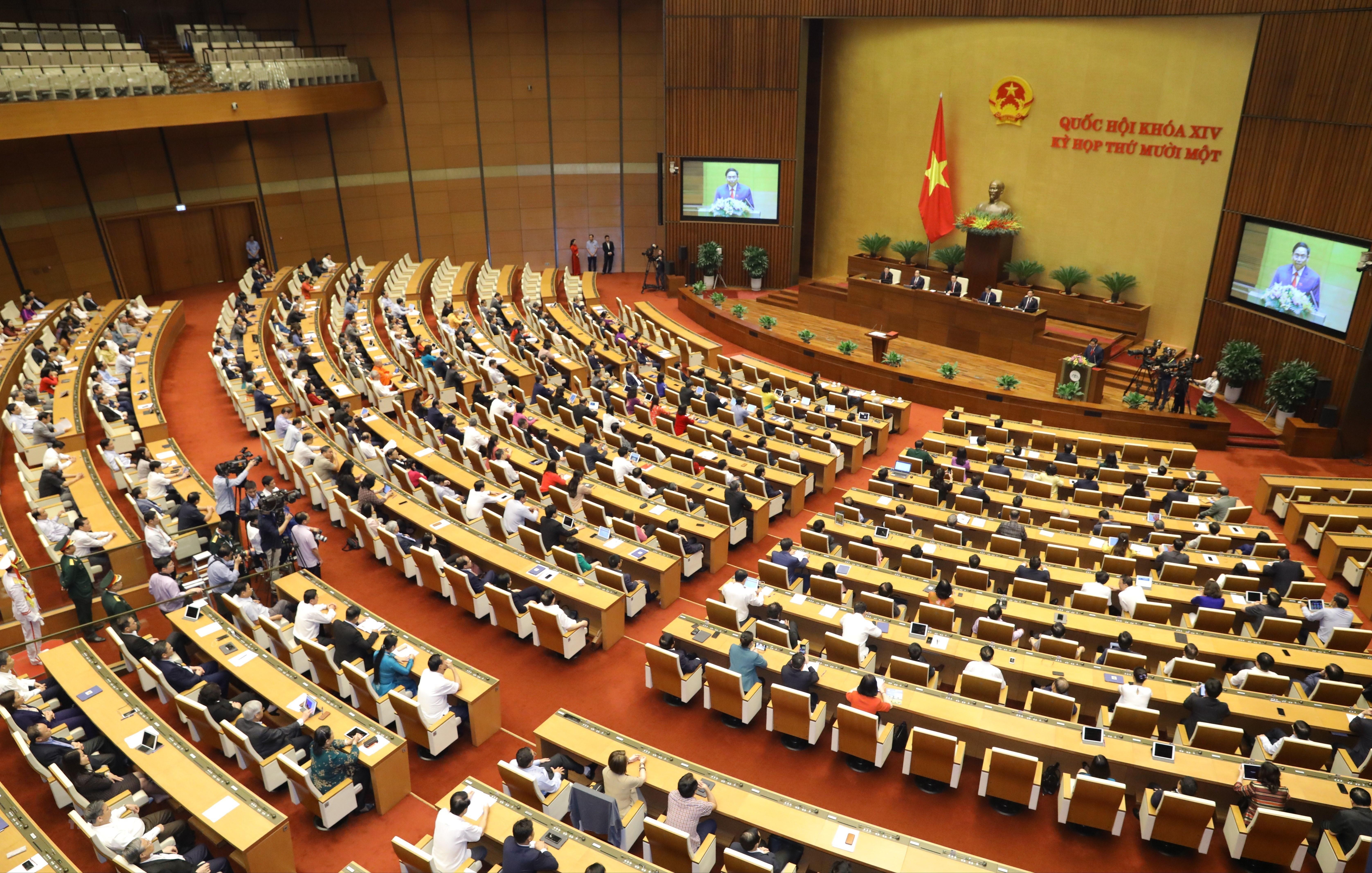 [Photo] Ong Pham Minh Chinh tuyen the nham chuc Thu tuong Chinh phu hinh anh 12