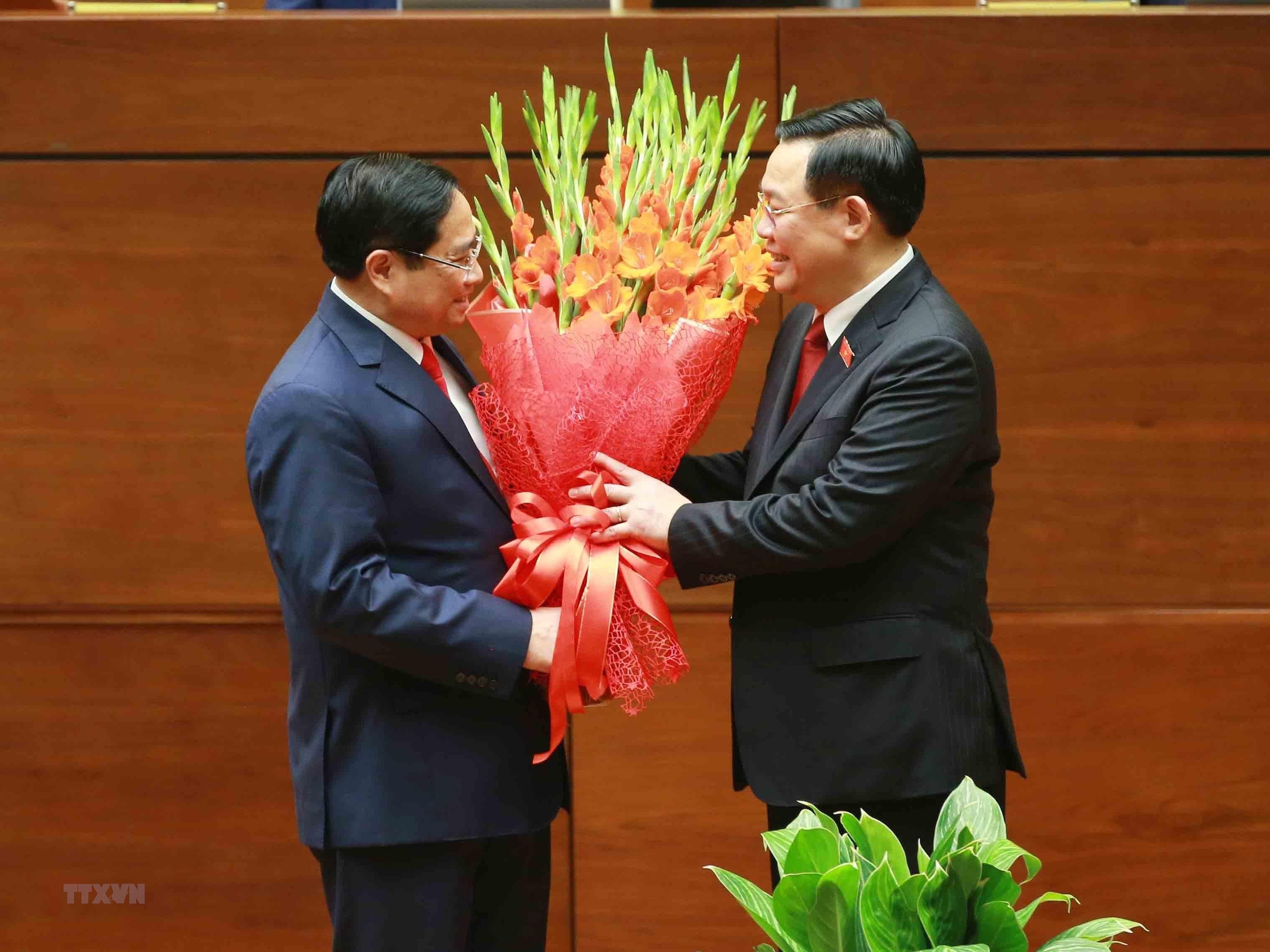 [Photo] Ong Pham Minh Chinh tuyen the nham chuc Thu tuong Chinh phu hinh anh 4