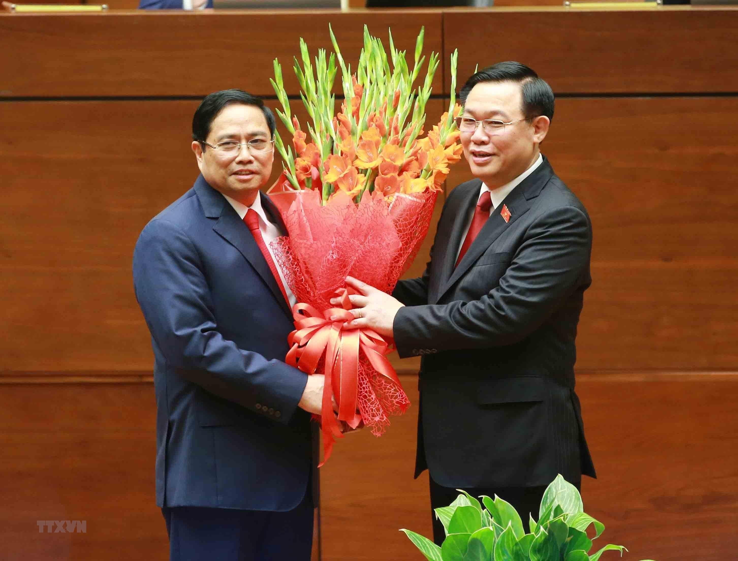 [Photo] Ong Pham Minh Chinh tuyen the nham chuc Thu tuong Chinh phu hinh anh 5