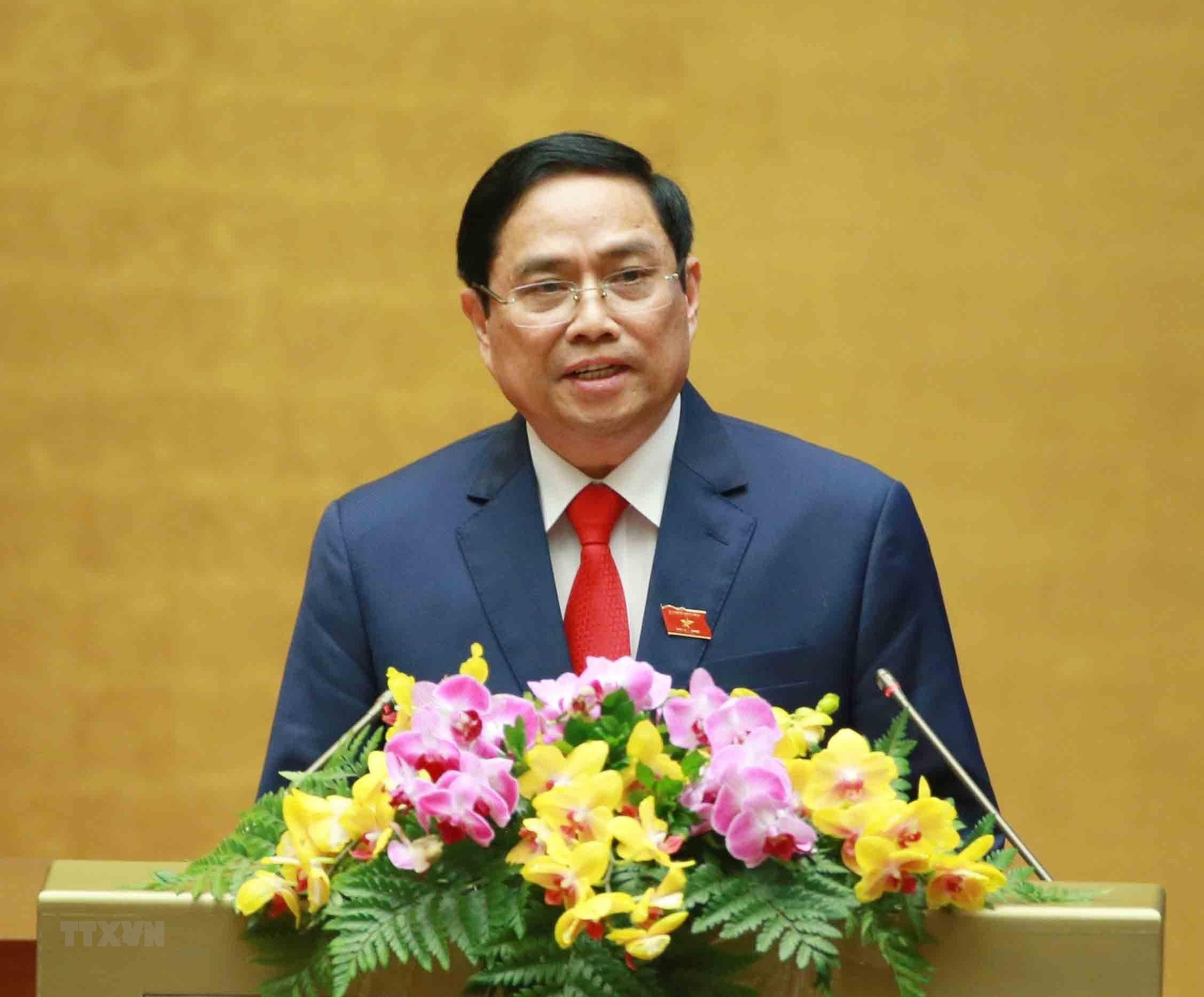 [Photo] Ong Pham Minh Chinh tuyen the nham chuc Thu tuong Chinh phu hinh anh 8