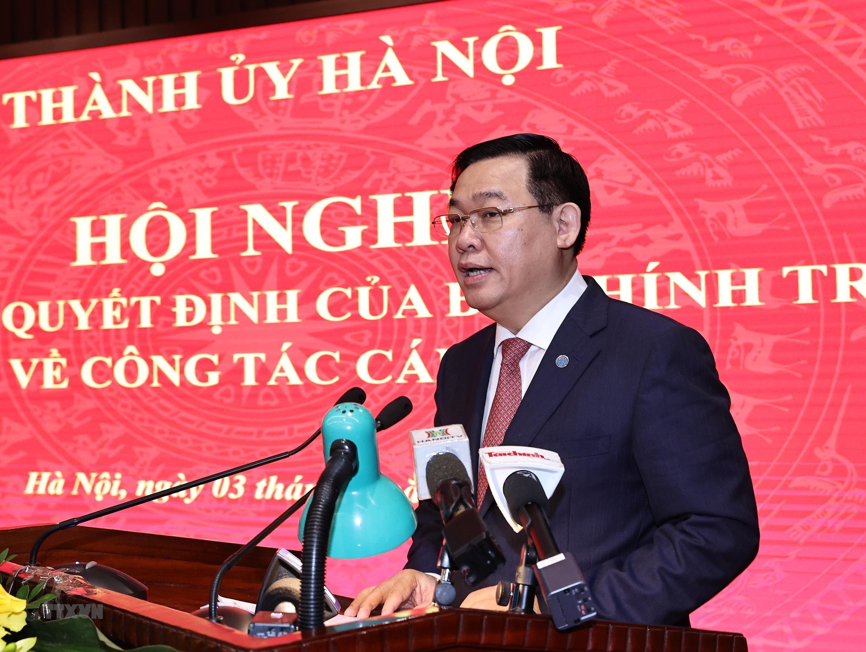 [Photo] Dong chi Dinh Tien Dung giu chuc Bi thu Thanh uy Ha Noi hinh anh 3