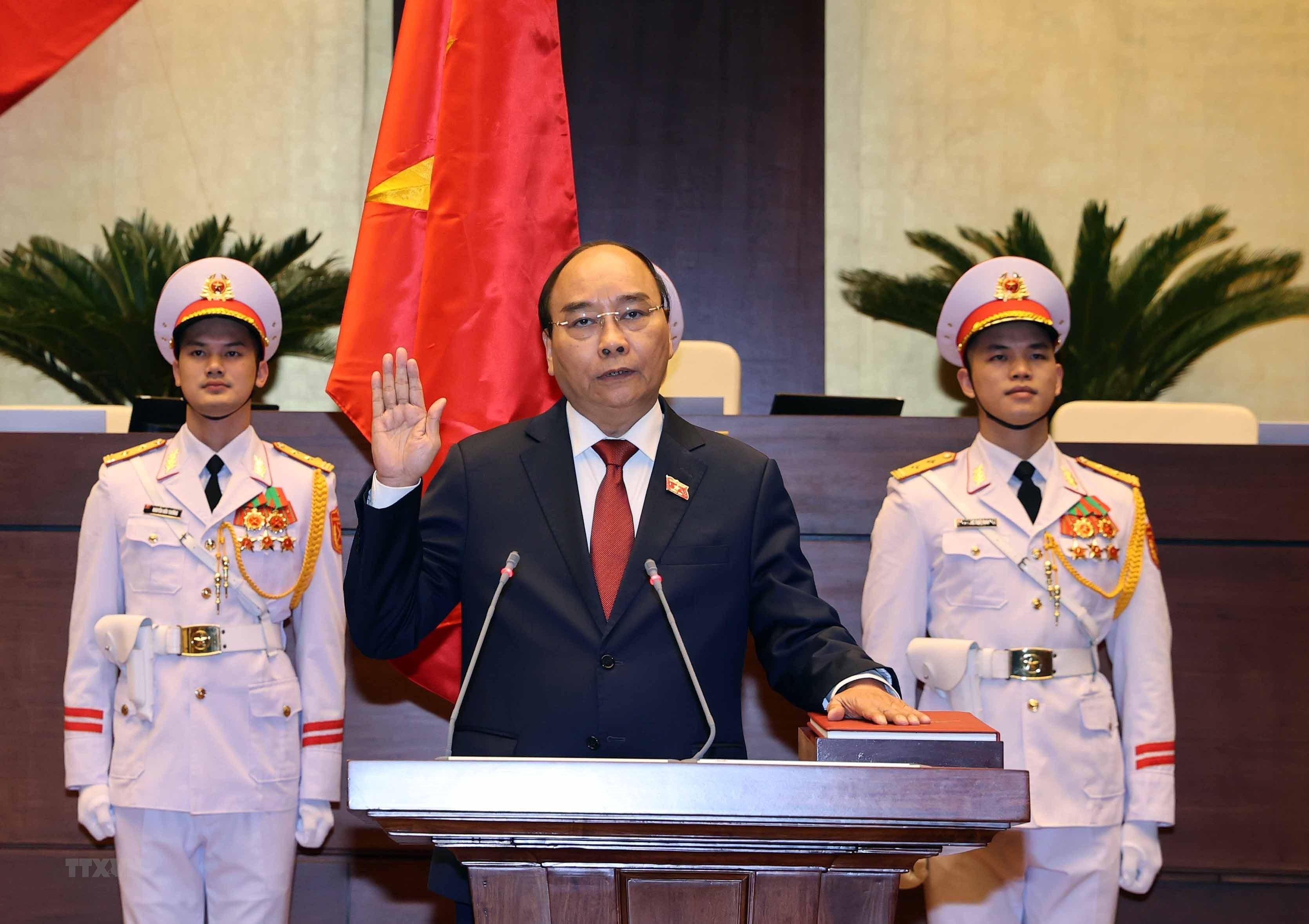 Toan van phat bieu nham chuc cua Chu tich nuoc Nguyen Xuan Phuc hinh anh 1