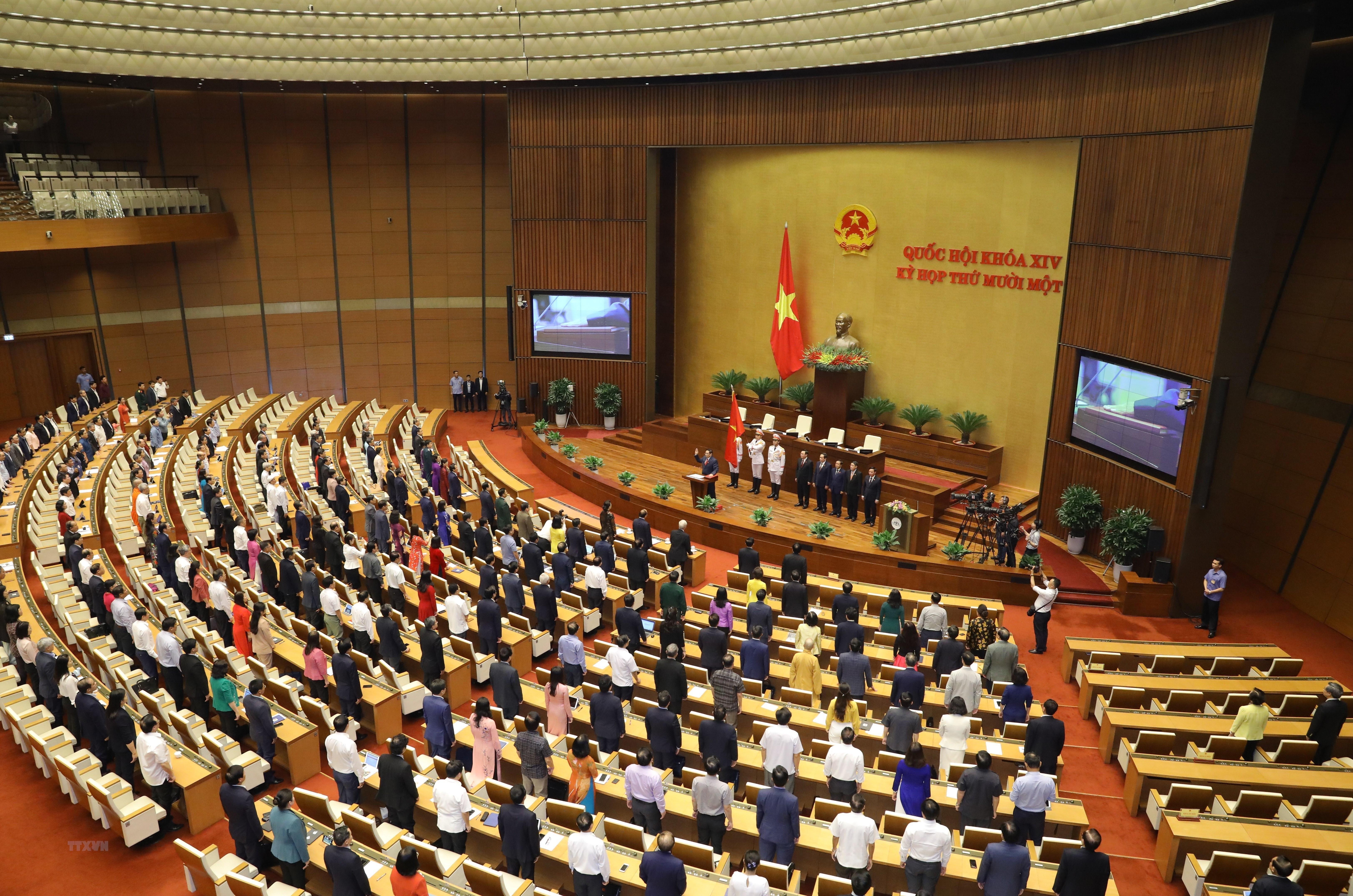 [Photo] Ong Pham Minh Chinh tuyen the nham chuc Thu tuong Chinh phu hinh anh 1