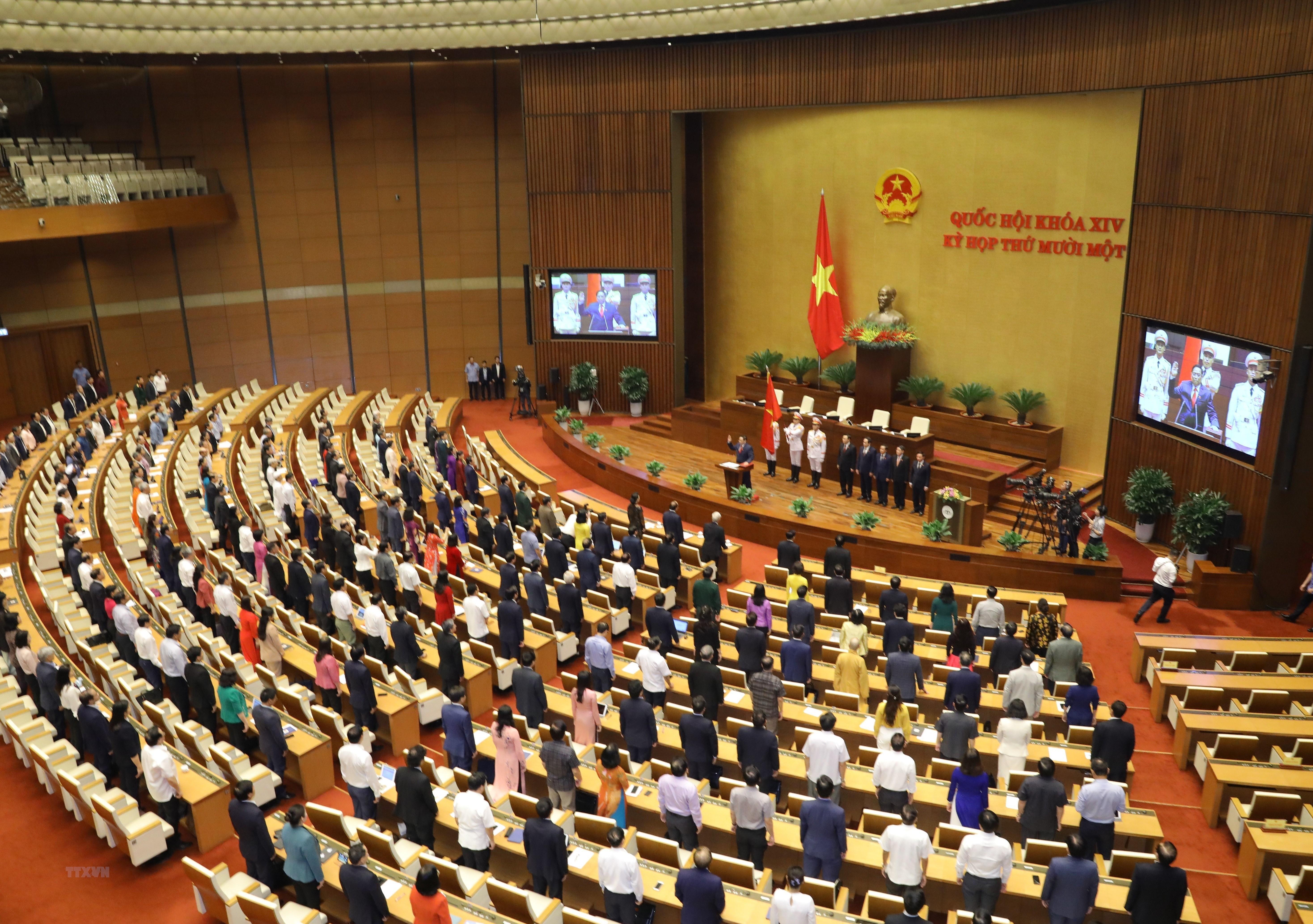 [Photo] Ong Pham Minh Chinh tuyen the nham chuc Thu tuong Chinh phu hinh anh 2