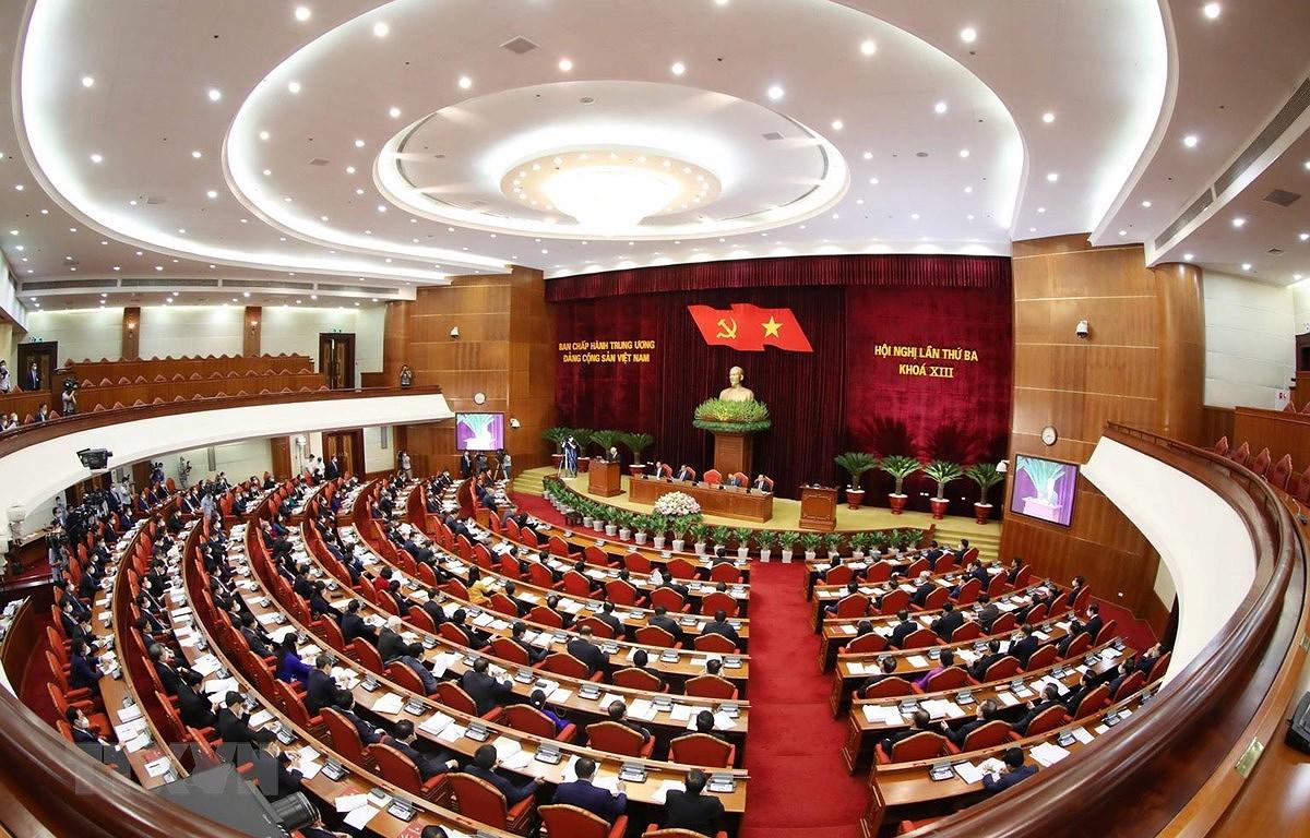Ngay lam viec thu ba Hoi nghi lan 3 Ban Chap hanh TW Dang khoa XIII hinh anh 1