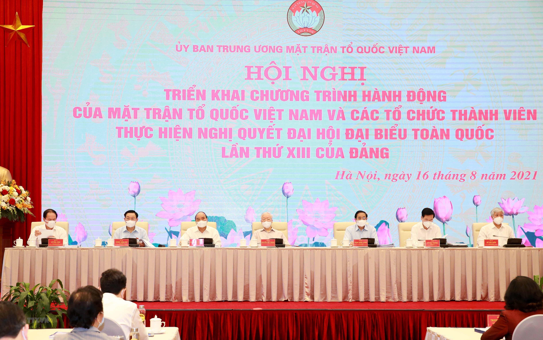 Tong Bi thu du Hoi nghi toan quoc Chuong trinh hanh dong cua MTTQ hinh anh 1