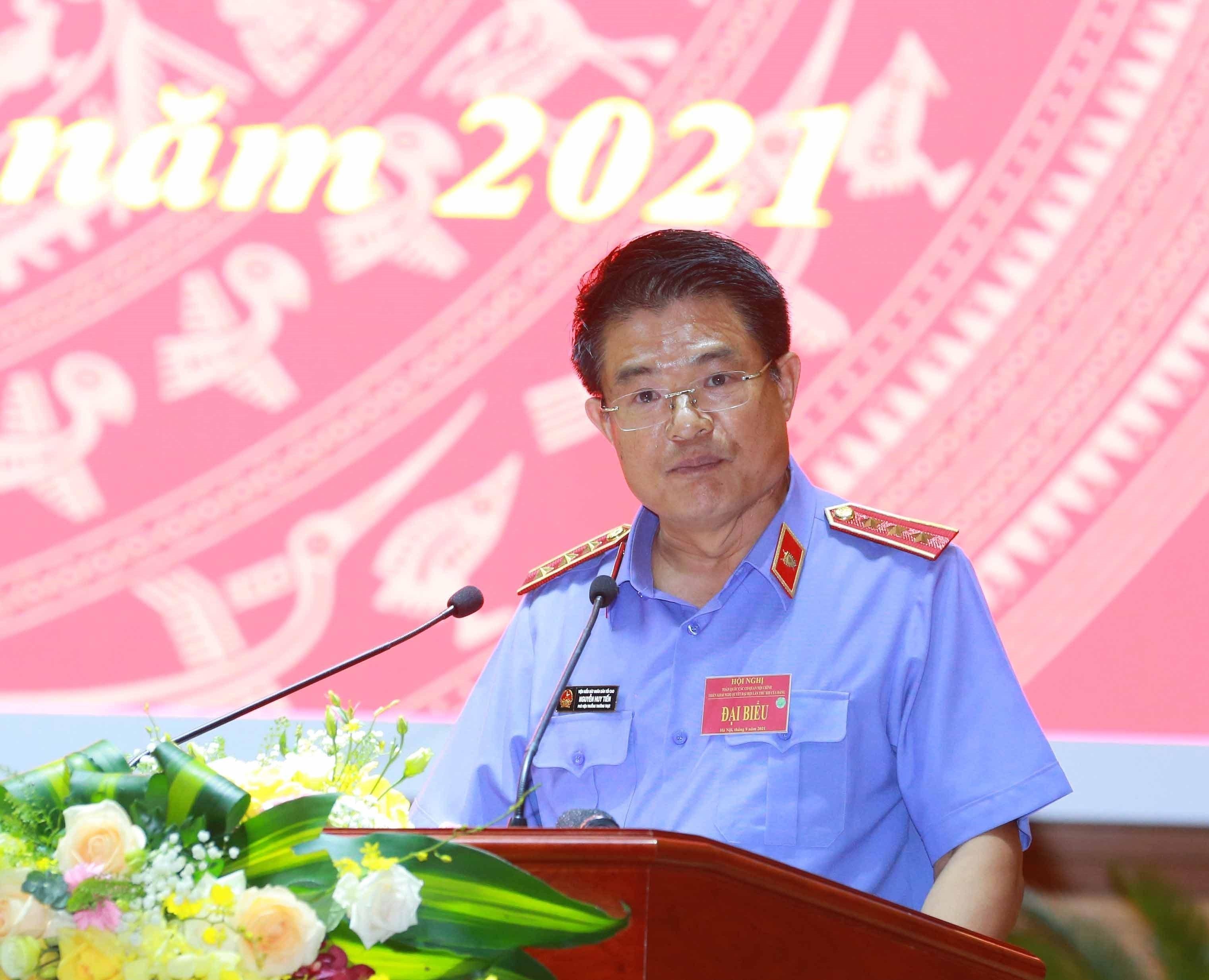 [Photo] Tong Bi thu chu tri Hoi nghi toan quoc cac co quan noi chinh hinh anh 10