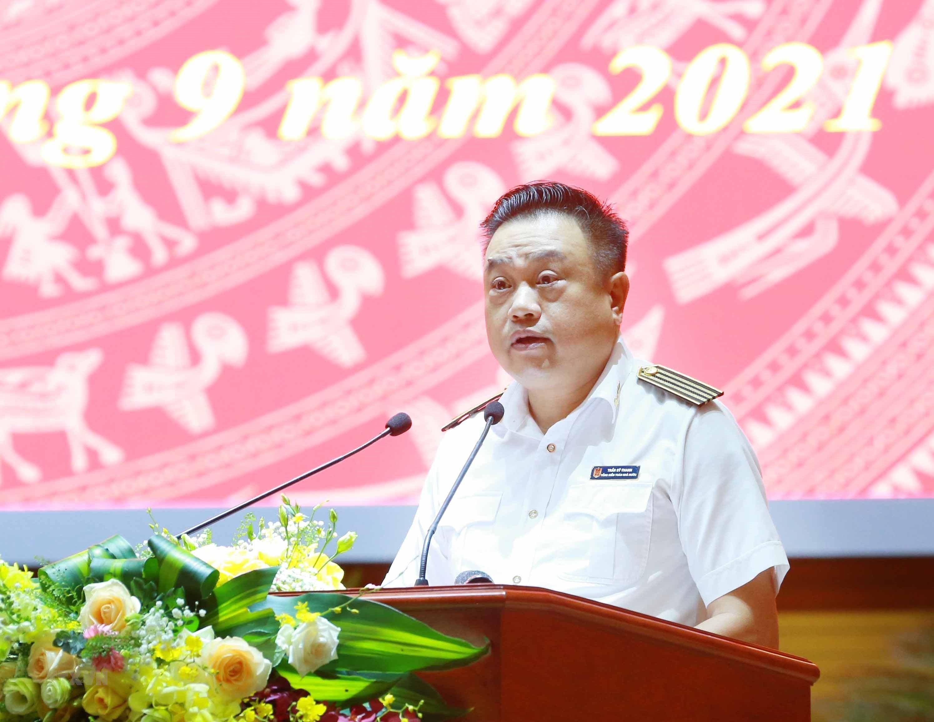 [Photo] Tong Bi thu chu tri Hoi nghi toan quoc cac co quan noi chinh hinh anh 12