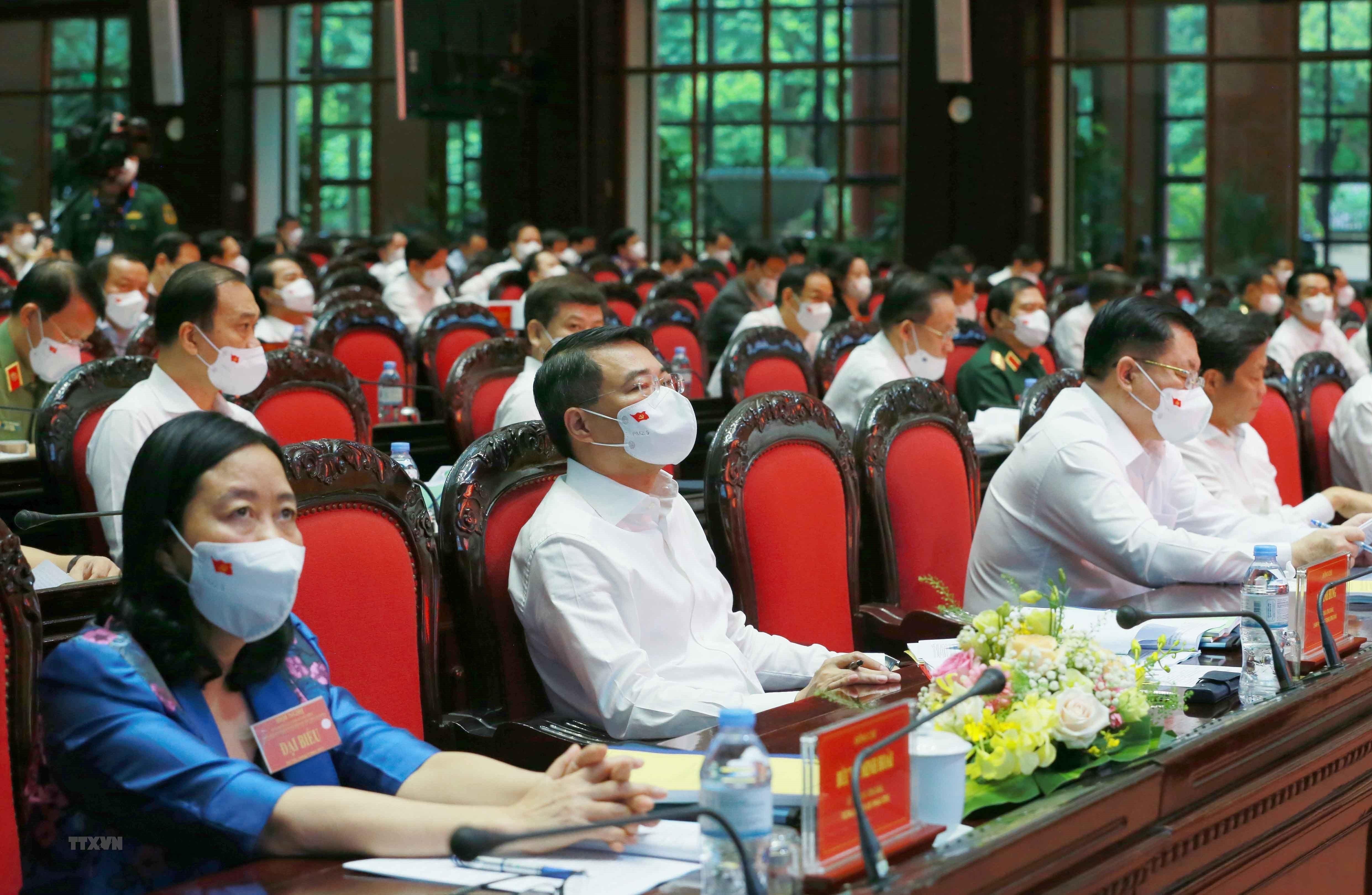 [Photo] Tong Bi thu chu tri Hoi nghi toan quoc cac co quan noi chinh hinh anh 16