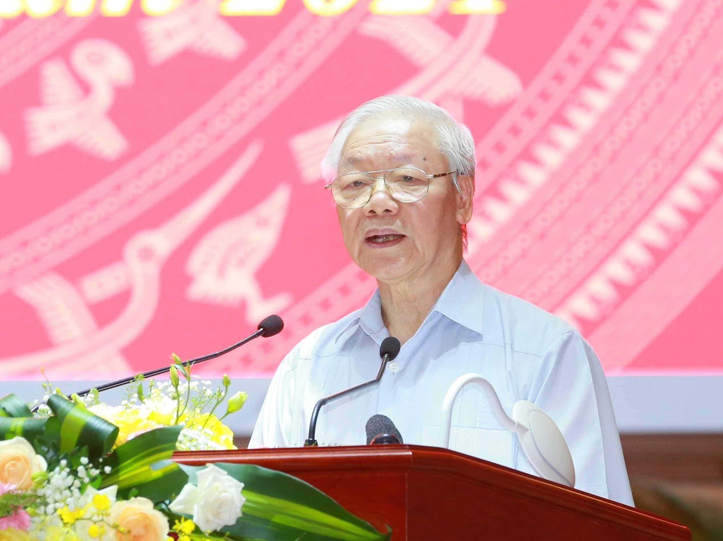 [Photo] Tong Bi thu chu tri Hoi nghi toan quoc cac co quan noi chinh hinh anh 7