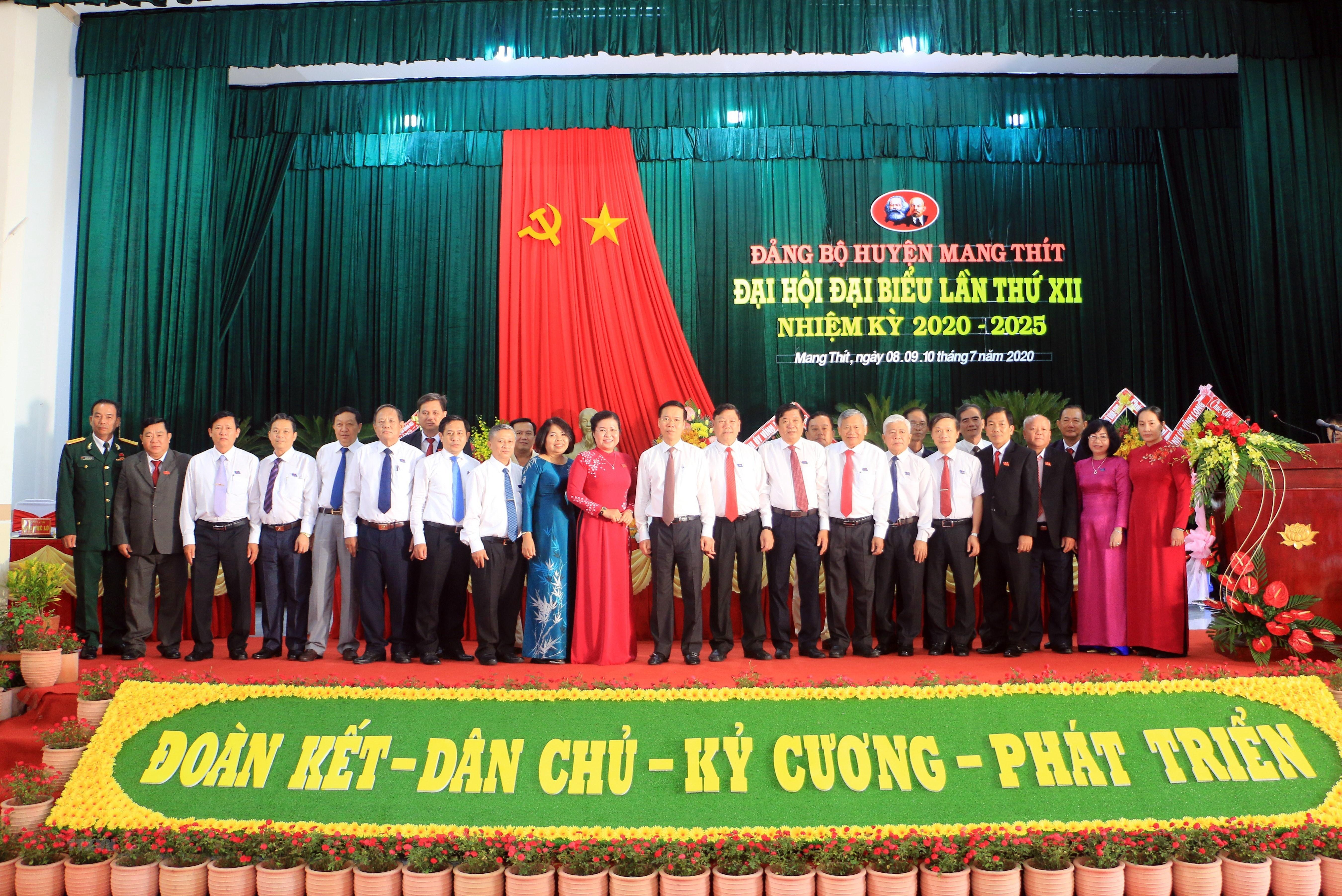 Dong chi Vo Van Thuong du Dai hoi Dang bo huyen Mang Thit, Vinh Long hinh anh 1