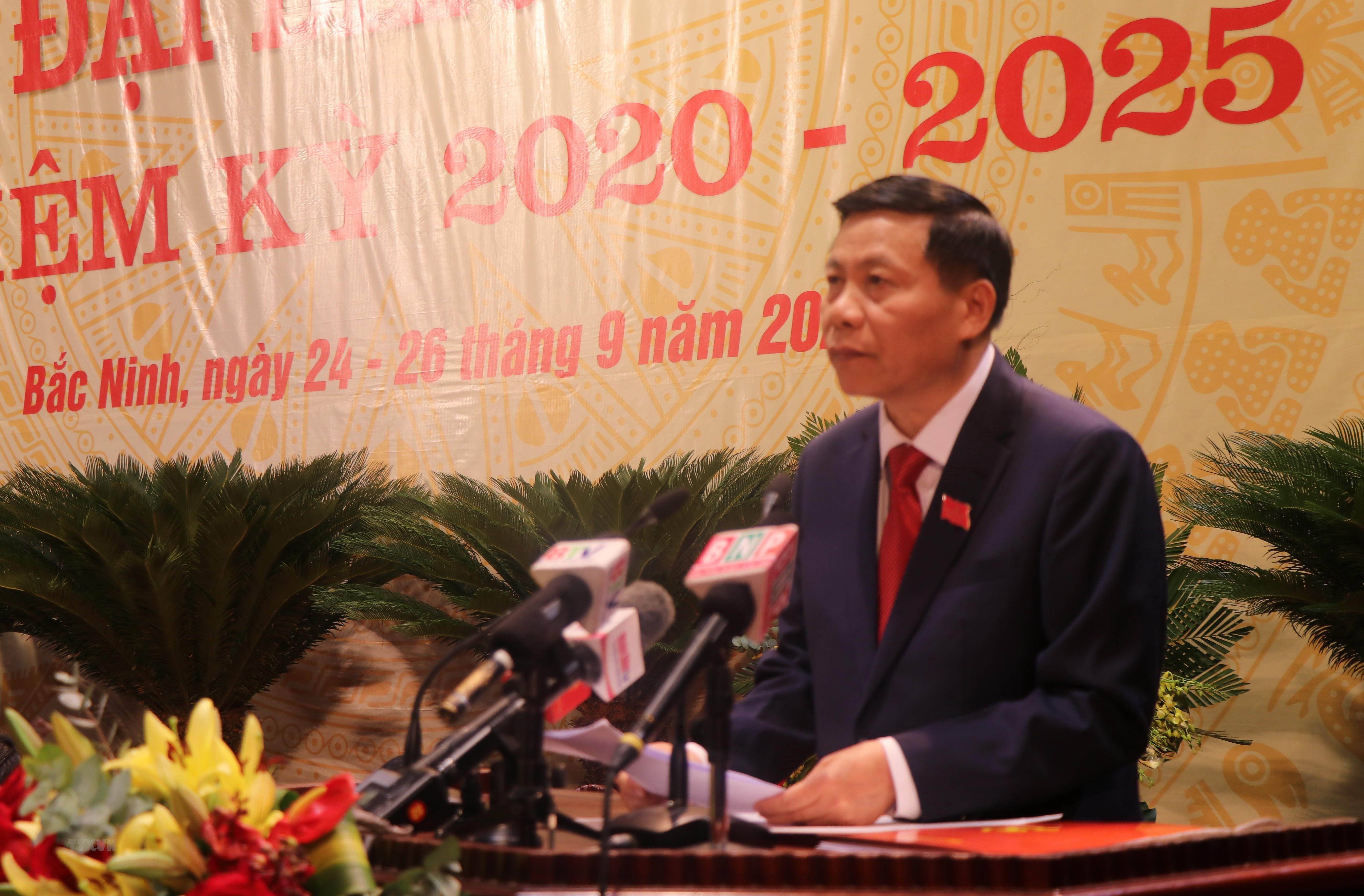 [Photo] Khai mac Dai hoi dai bieu Dang bo tinh Bac Ninh lan thu XX hinh anh 4
