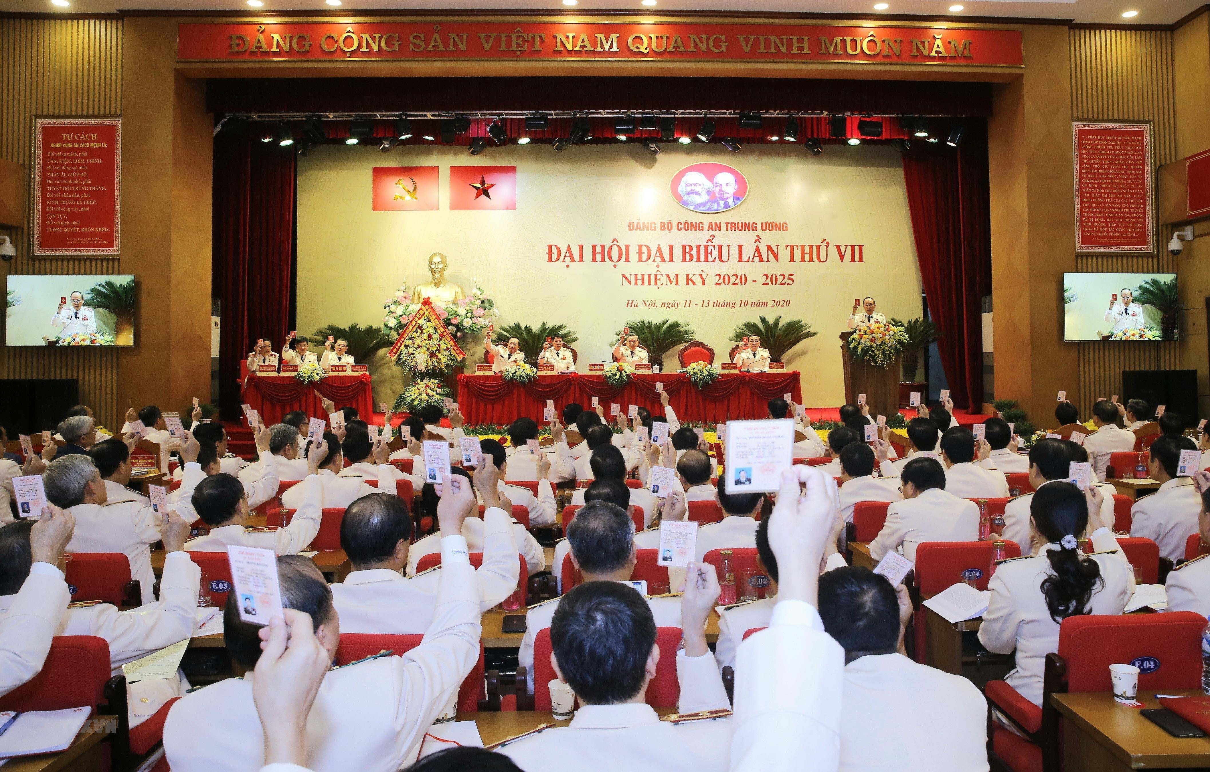 [Photo] Dai hoi dai bieu Dang bo Cong an Trung uong lan thu VII hinh anh 1