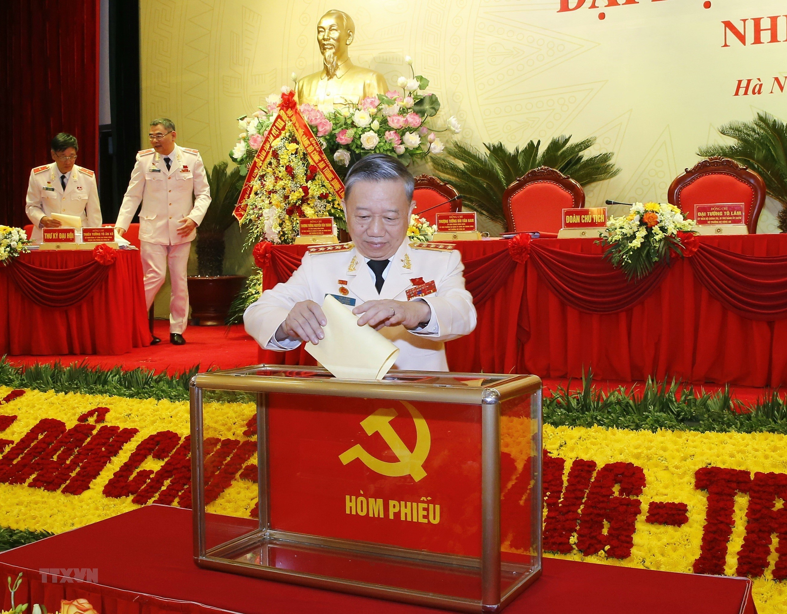 [Photo] Dai hoi dai bieu Dang bo Cong an Trung uong lan thu VII hinh anh 4