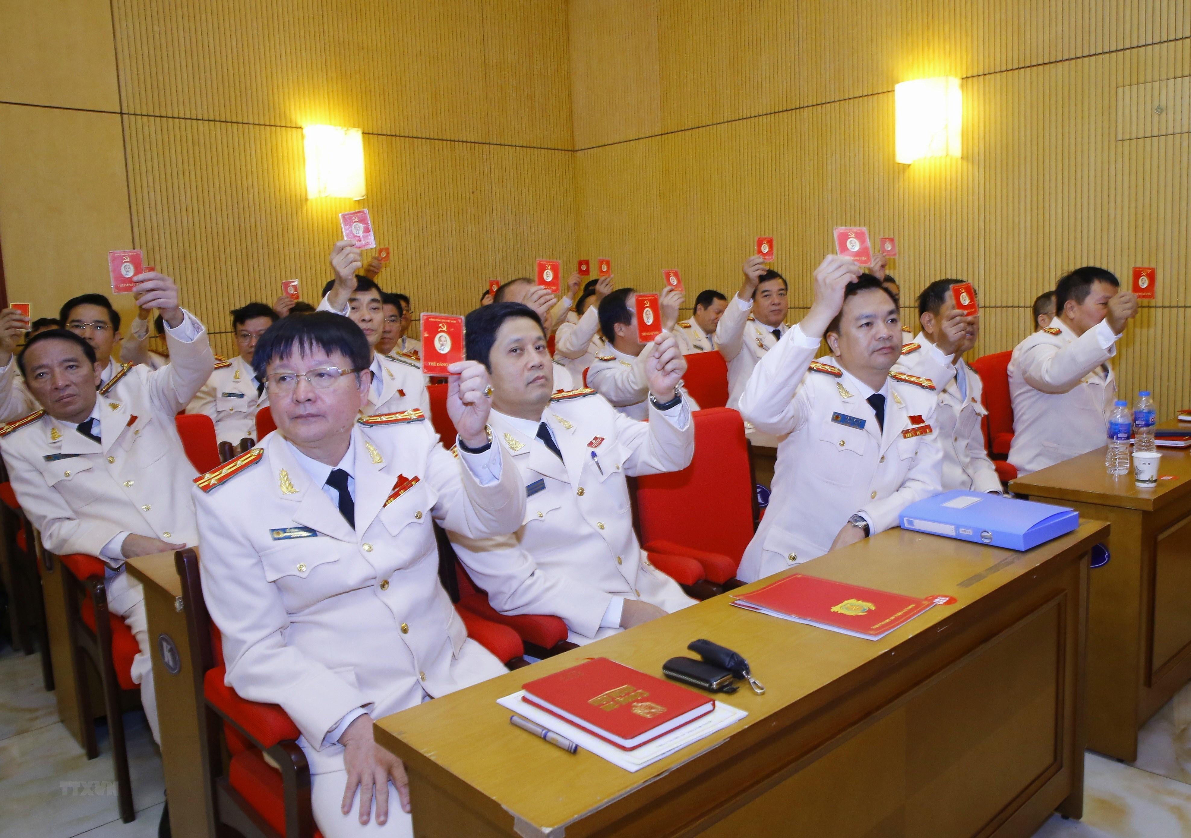 [Photo] Dai hoi dai bieu Dang bo Cong an Trung uong lan thu VII hinh anh 3