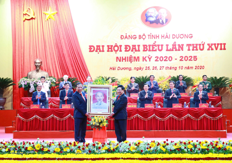 Khai mac Dai hoi Dai bieu Dang bo tinh Hai Duong lan thu XVII hinh anh 1